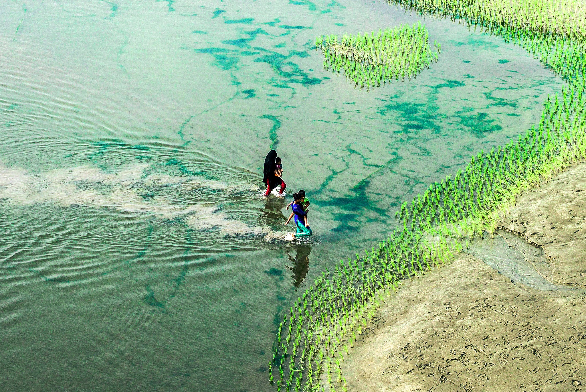 Women of riverside by Ehsanul Siddiq Aranya