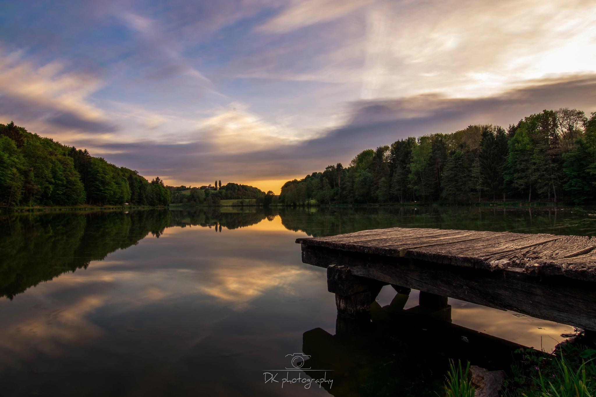 Sunset on Lake  by Darko Golnar