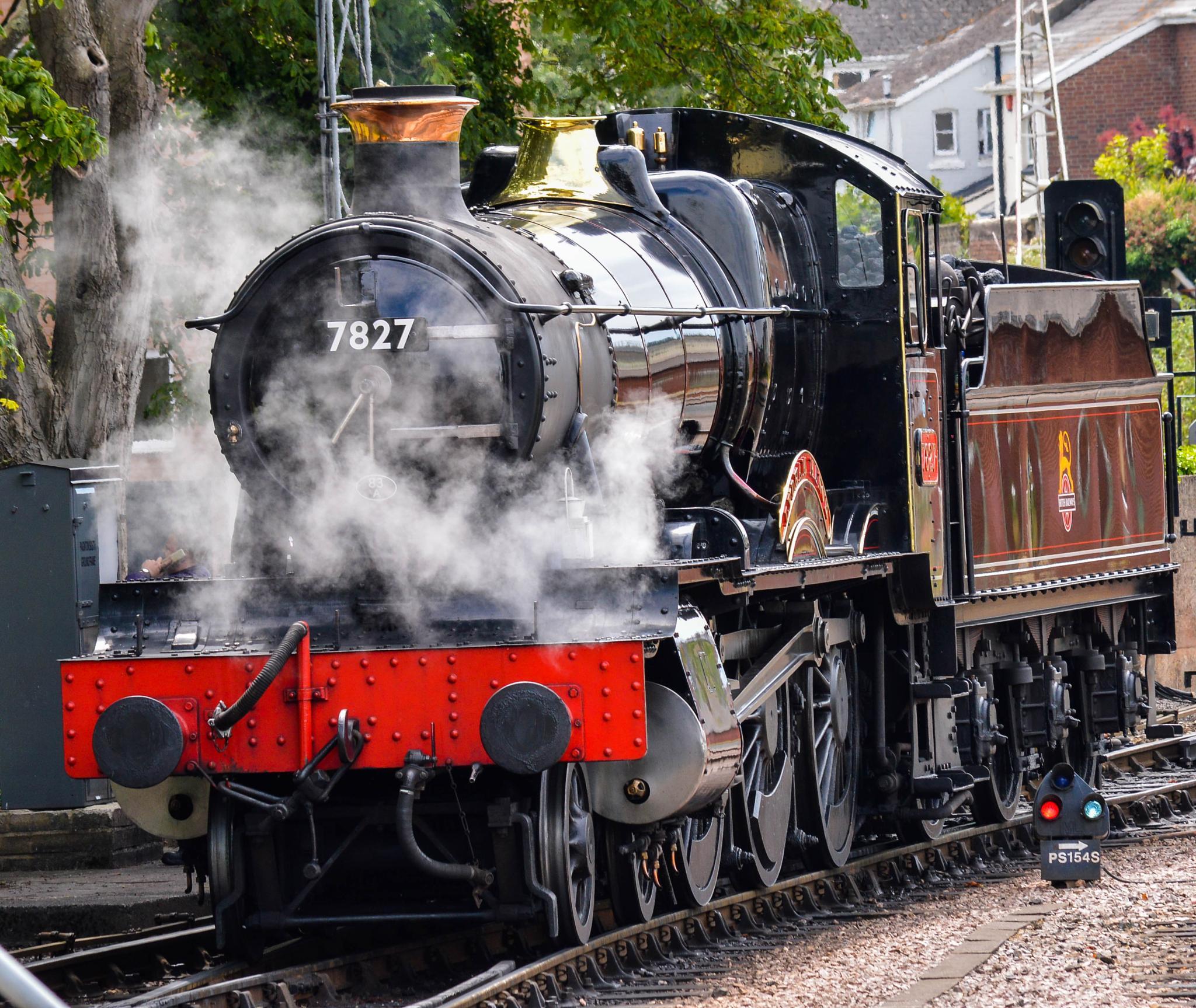 Photo in Vehicle #train #rails #smoke