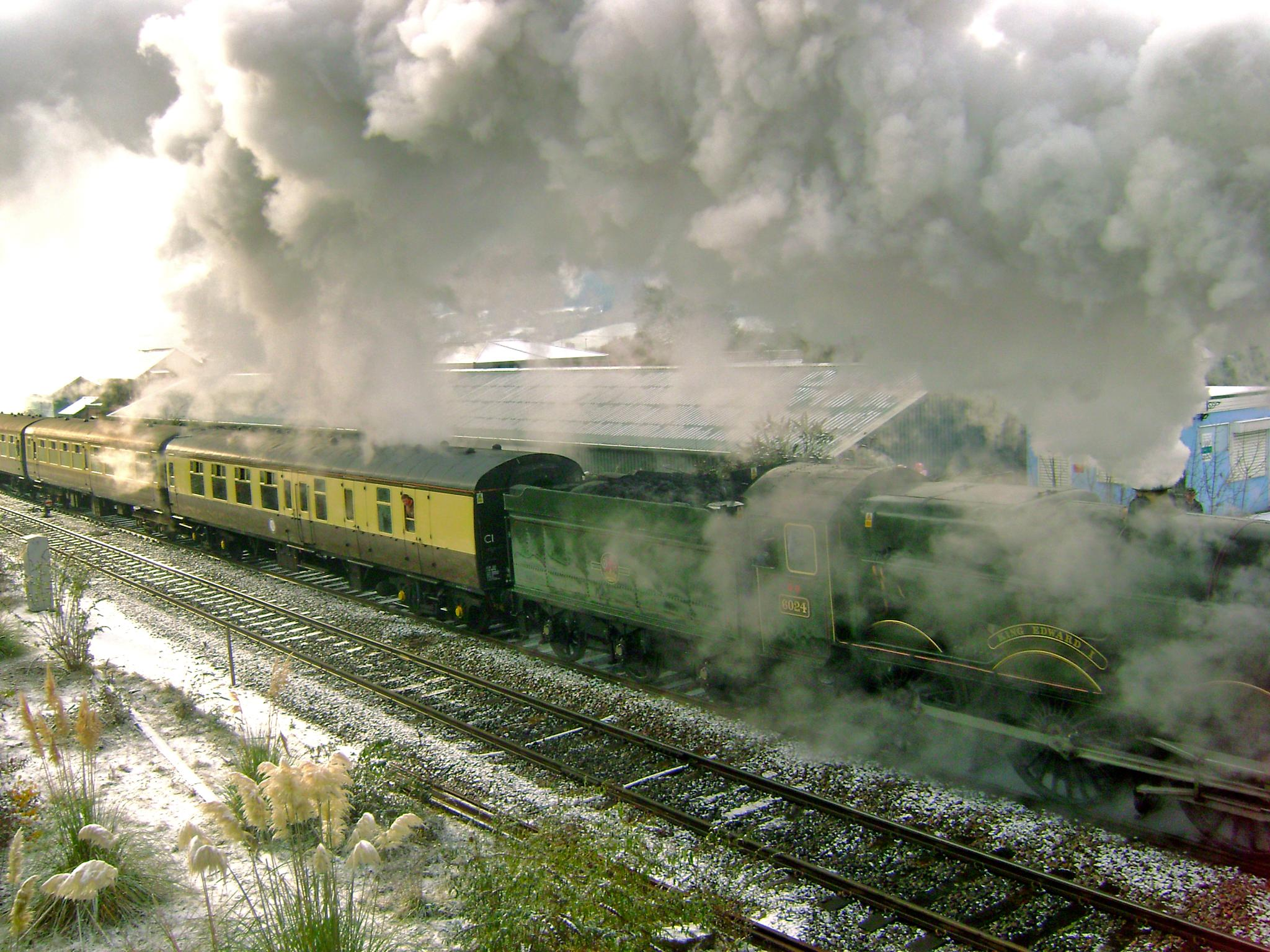 Photo in Vehicle #trains #smoke #old