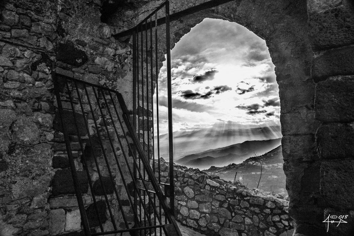 Sicily in window by Lillo Flamingo Beach