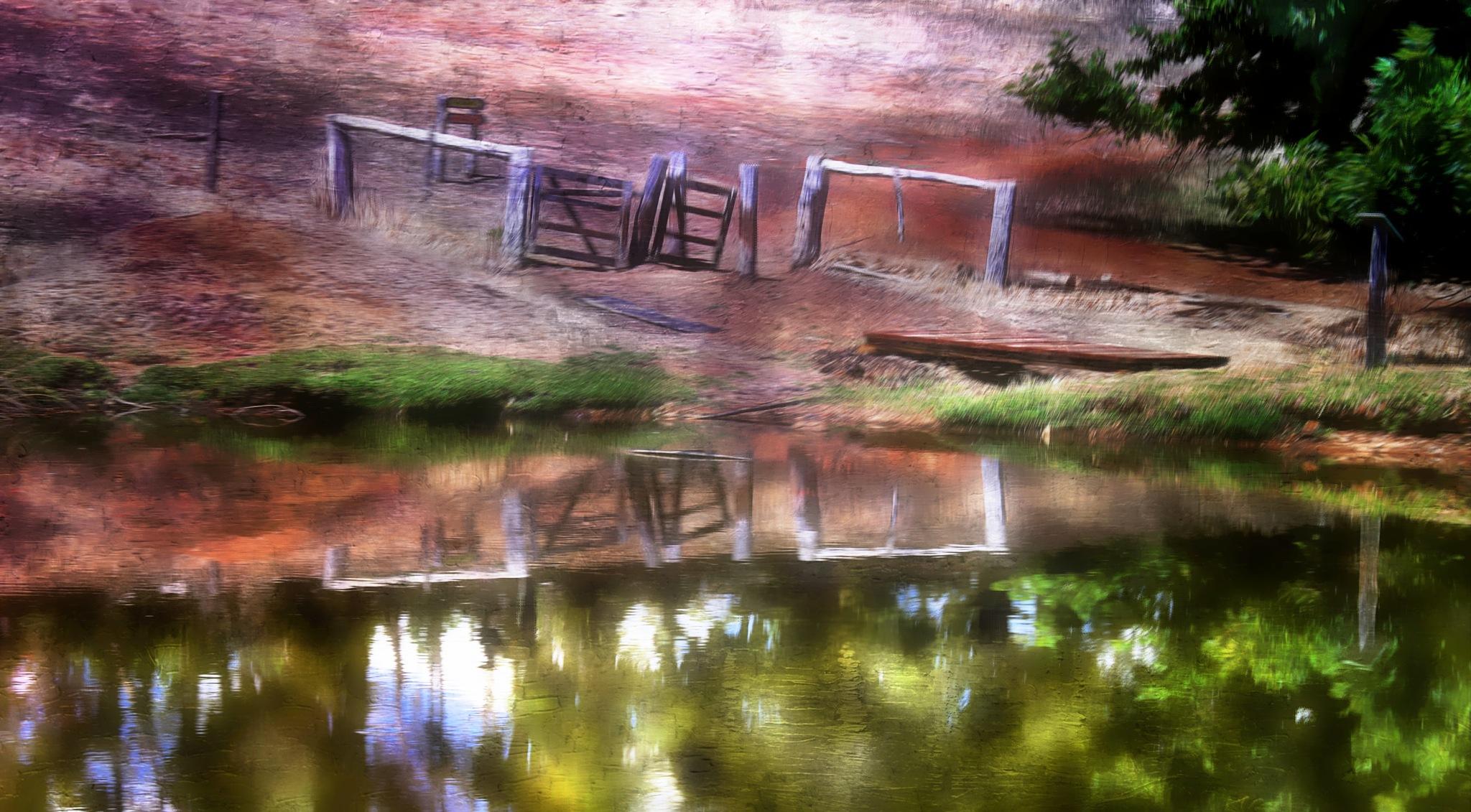 Rural  reflection  by LyndaRealmshift