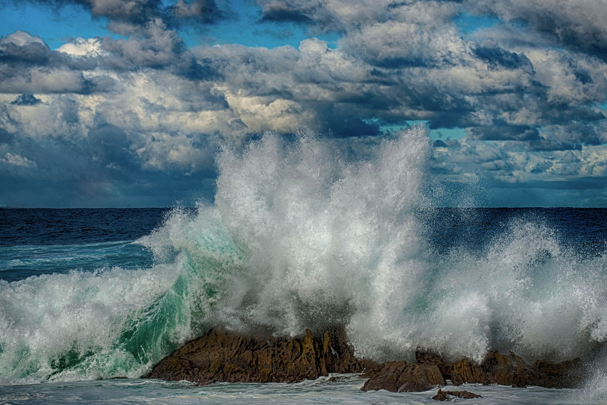Off the coast at Esperance by Mordechai Ben Yosef