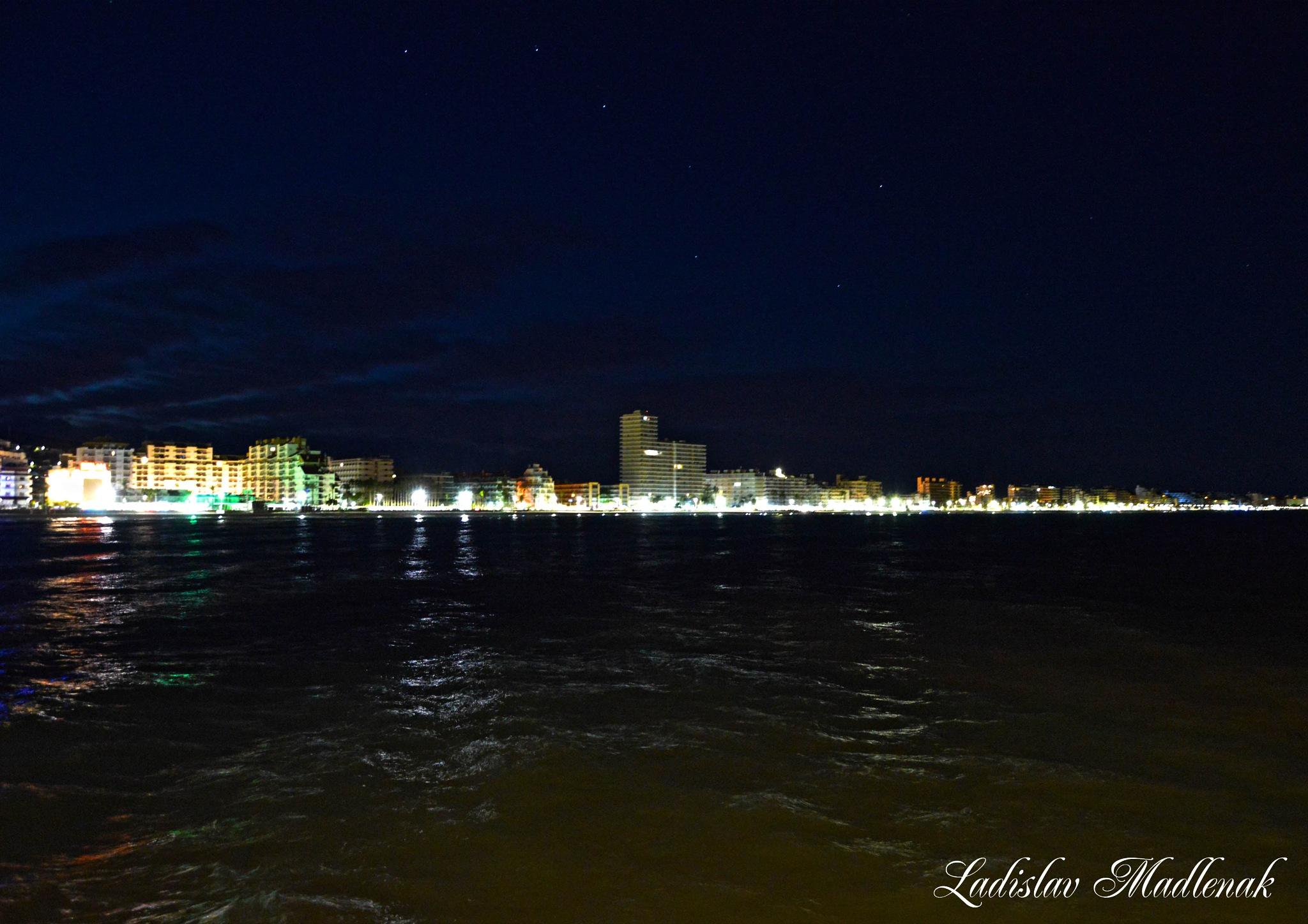 City under stars by LLadislav Madlenak