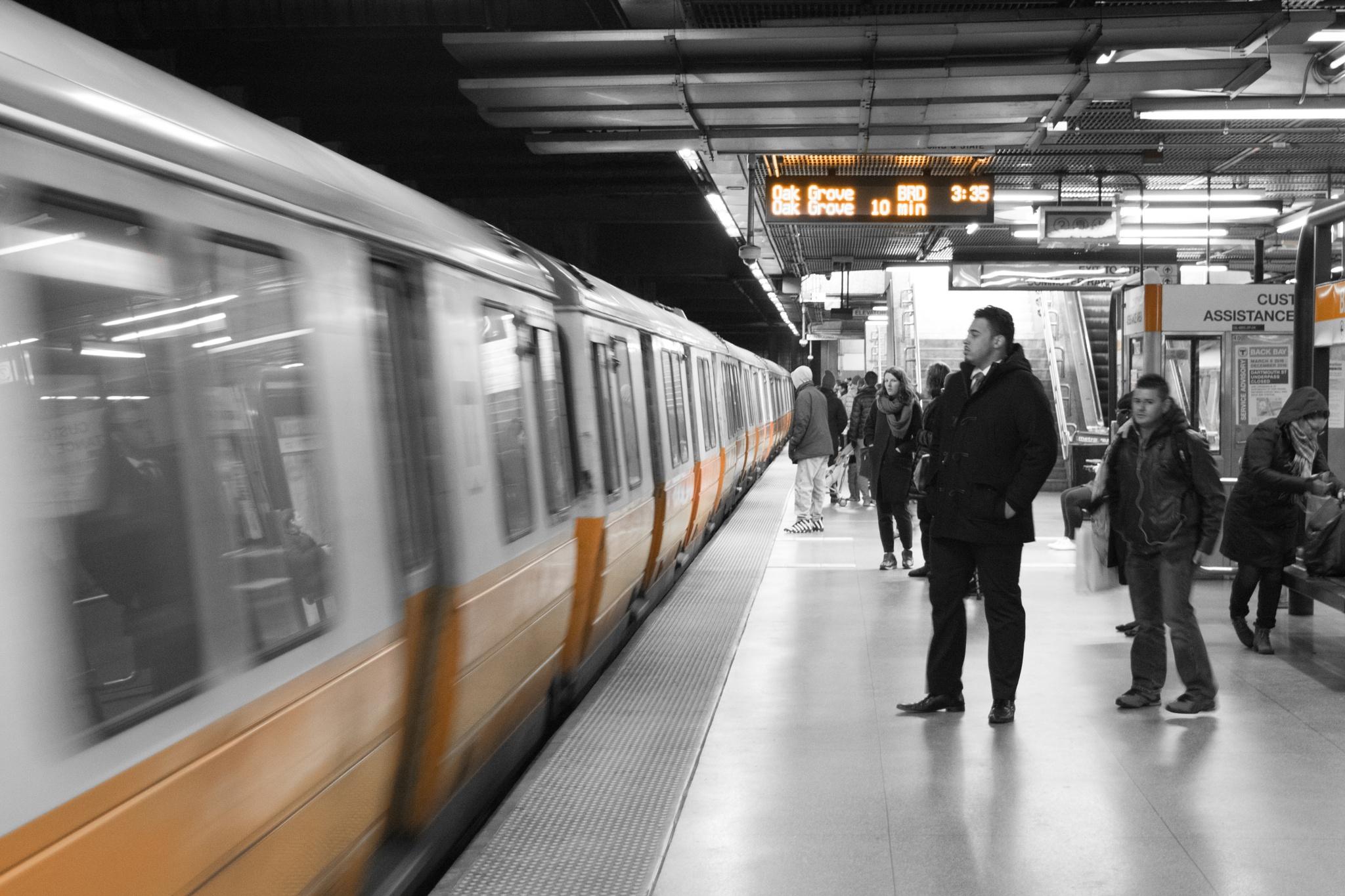 Photo in Urban #subway #mbta #boston #orange #urban