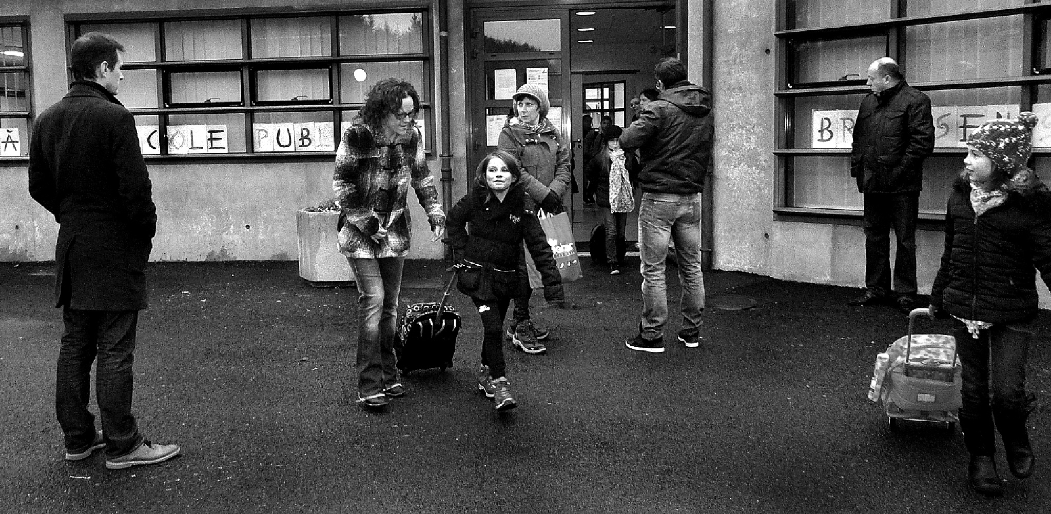 End of the school day. France. by Malcolm White