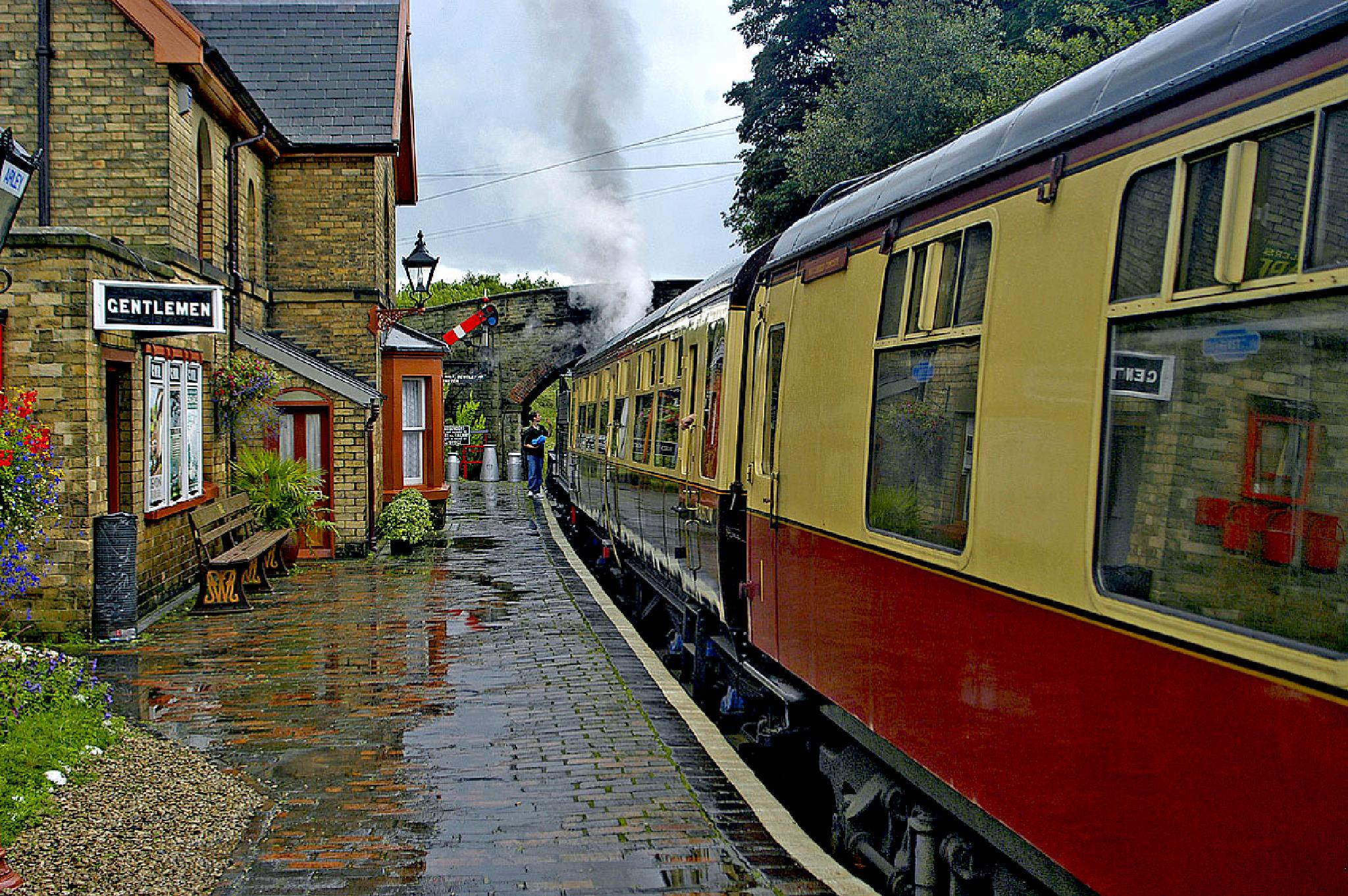 After the rain. Severn Trent Railway. United Kingdom. by Malcolm White