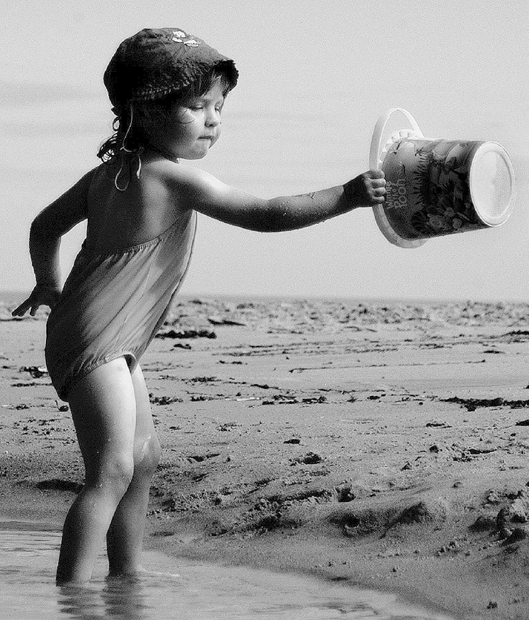 Girl and Bucket. by Malcolm White