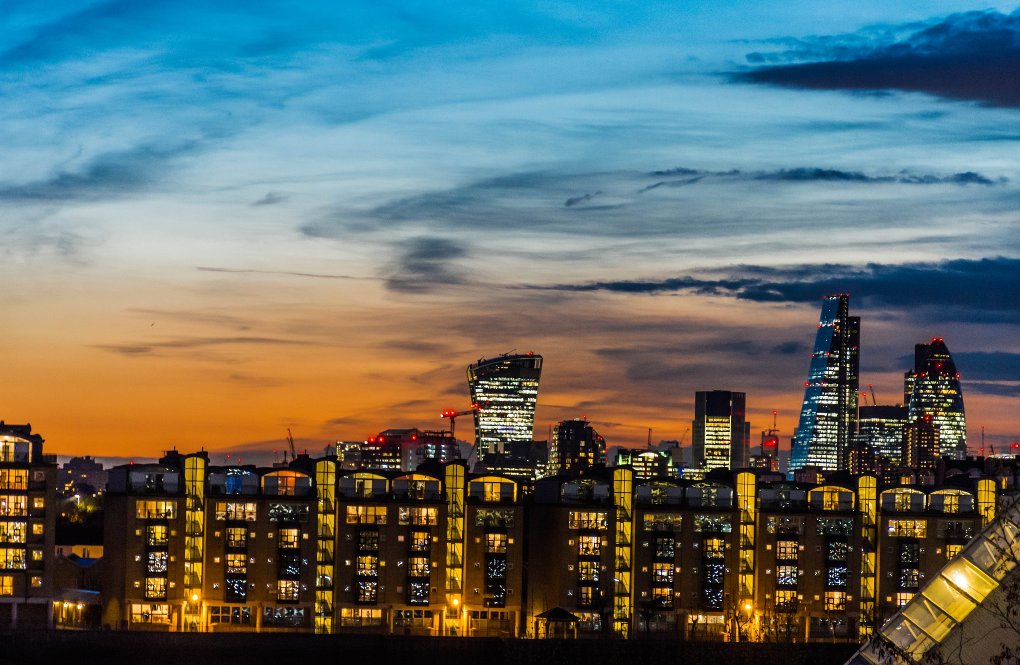 View from My Balcony....END OF THE DAY......meeting of day light with Darkness by Dowshik