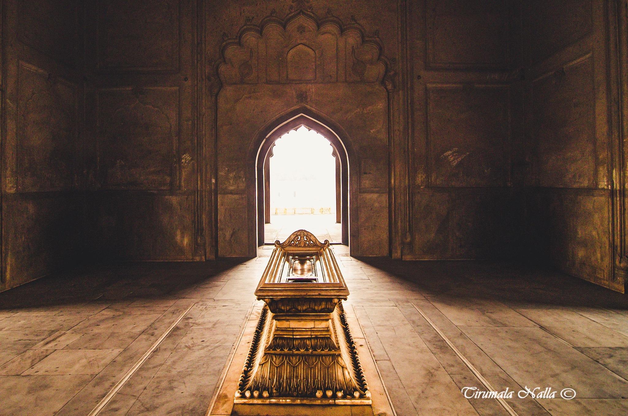 Divine light at the Gate by Tirumala Nalla