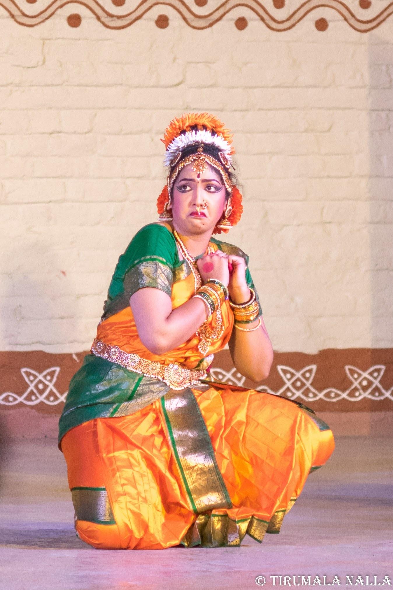 Kuchipudi dancer by Tirumala Nalla