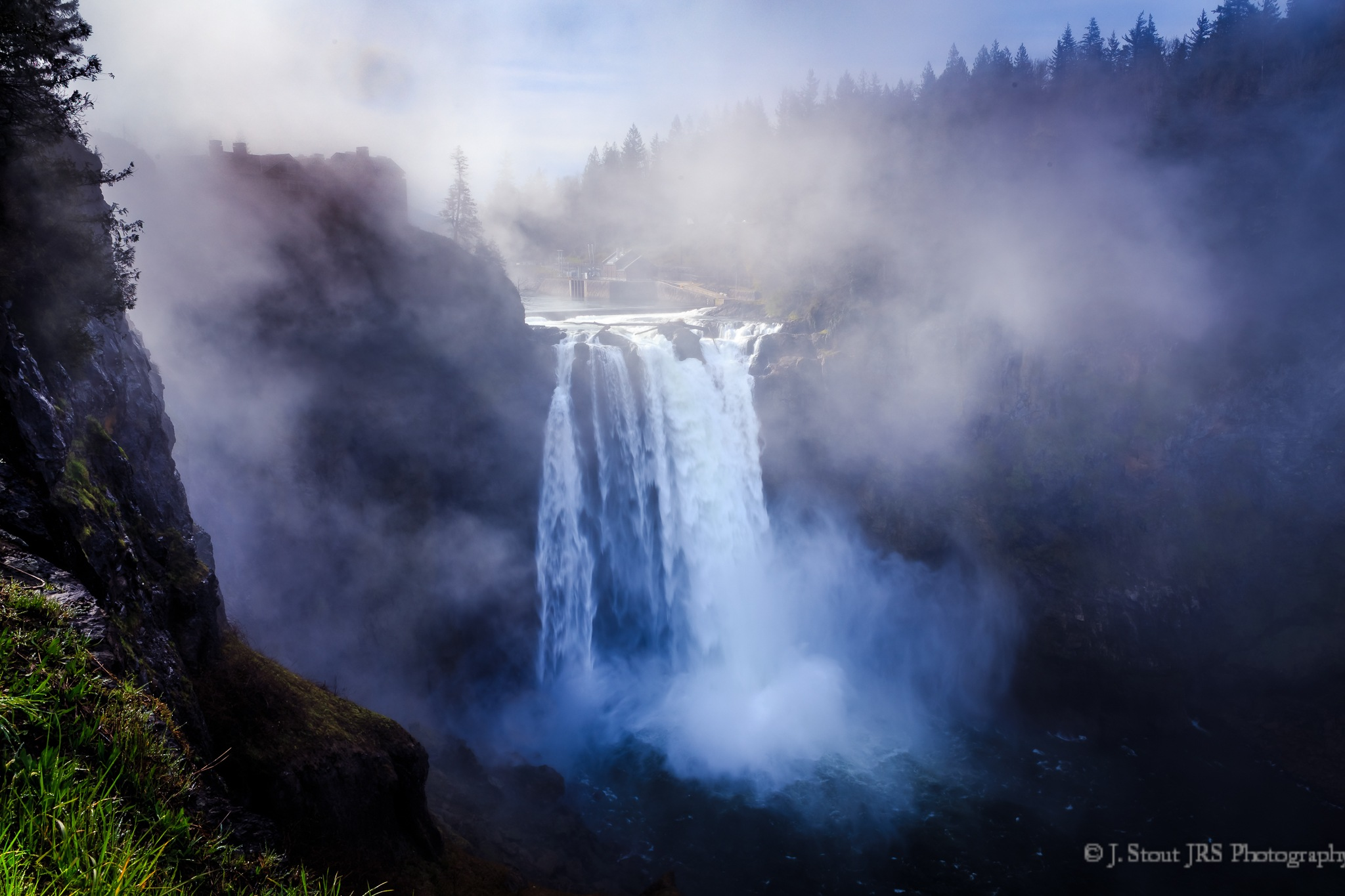 Snoqualmie Falls in Easter Dress by jrstout55