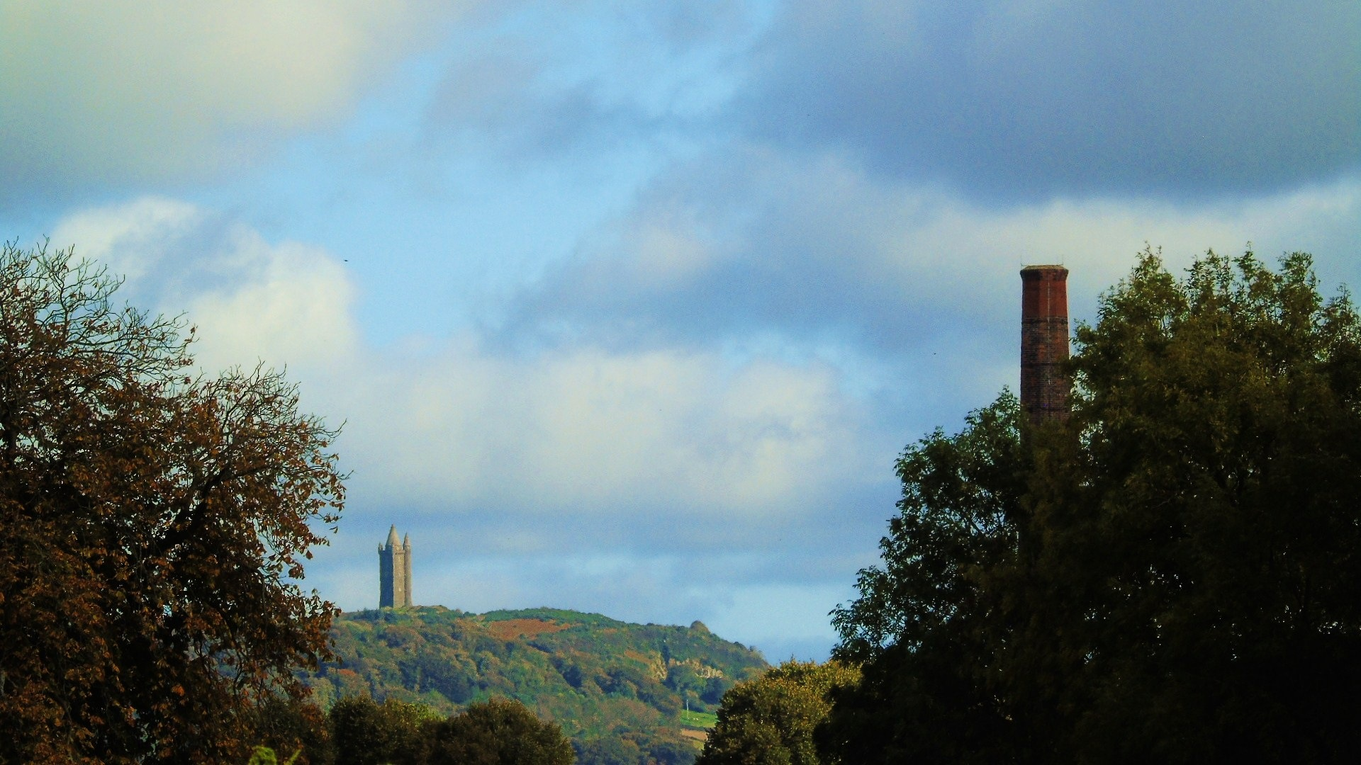 Andrews Mill and Scrabo Tower  by Stevie Ashmore