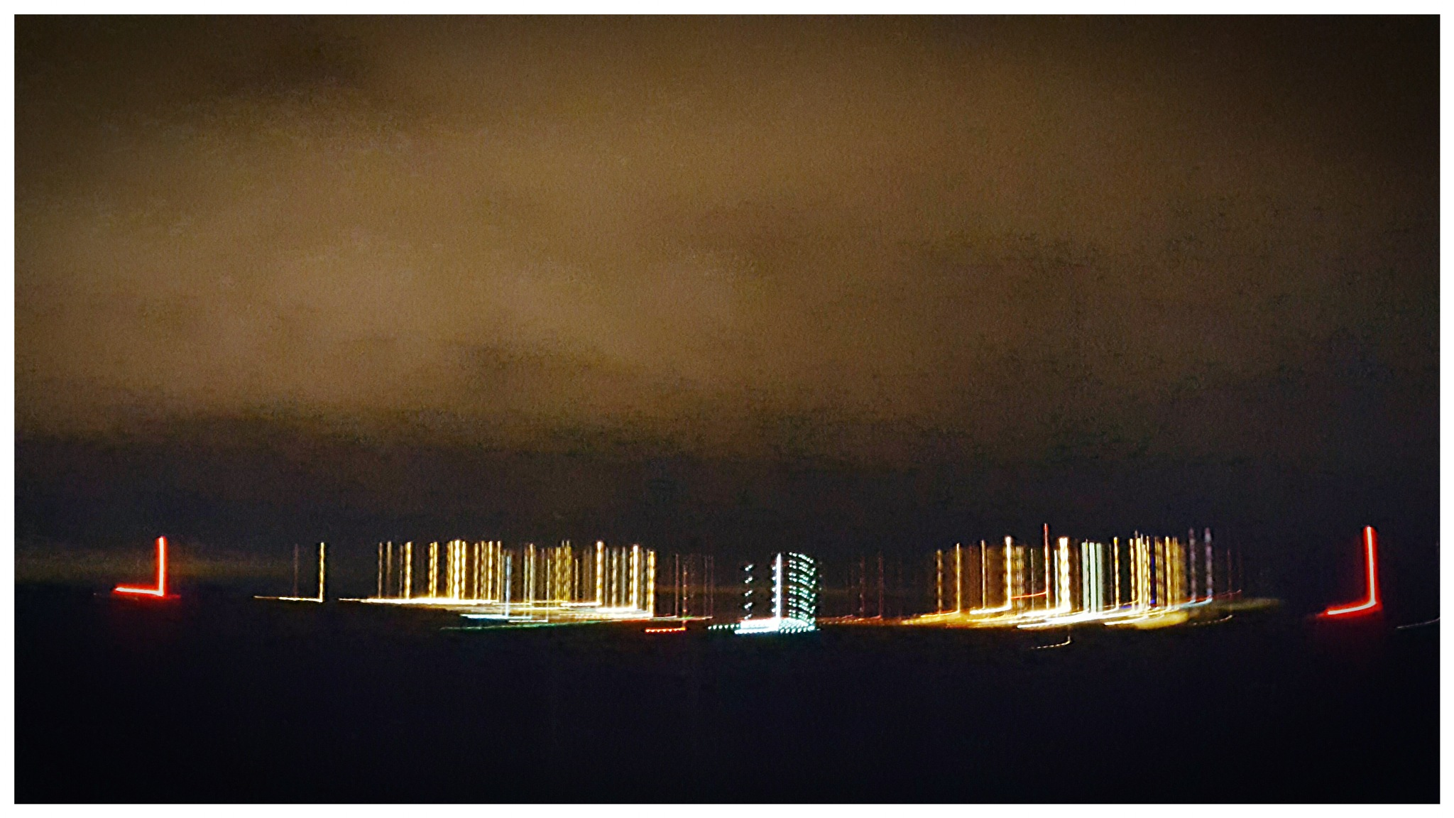 Birmingham Airport at Night by Yvonne Lewis