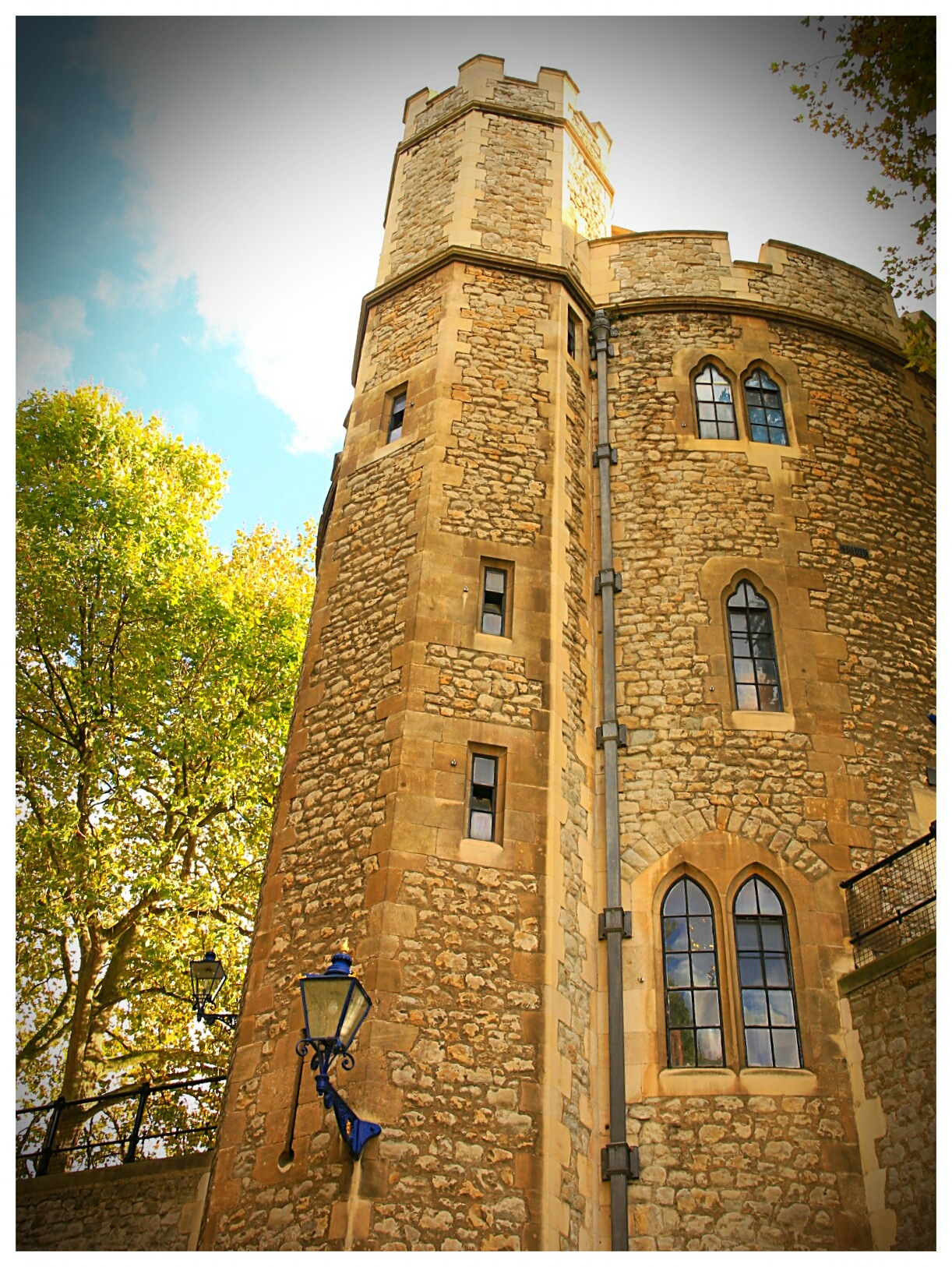 Autumn at the Tower by Yvonne Lewis
