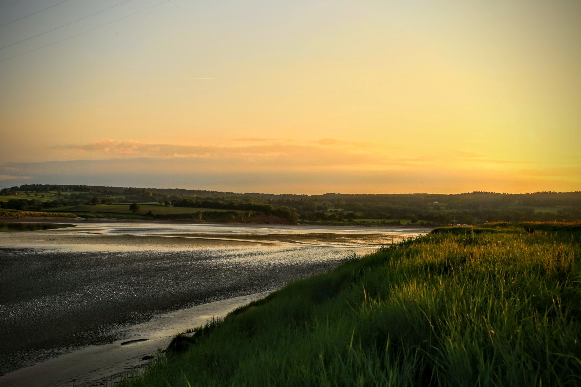 Evening on the River Severn by Yvonne Lewis