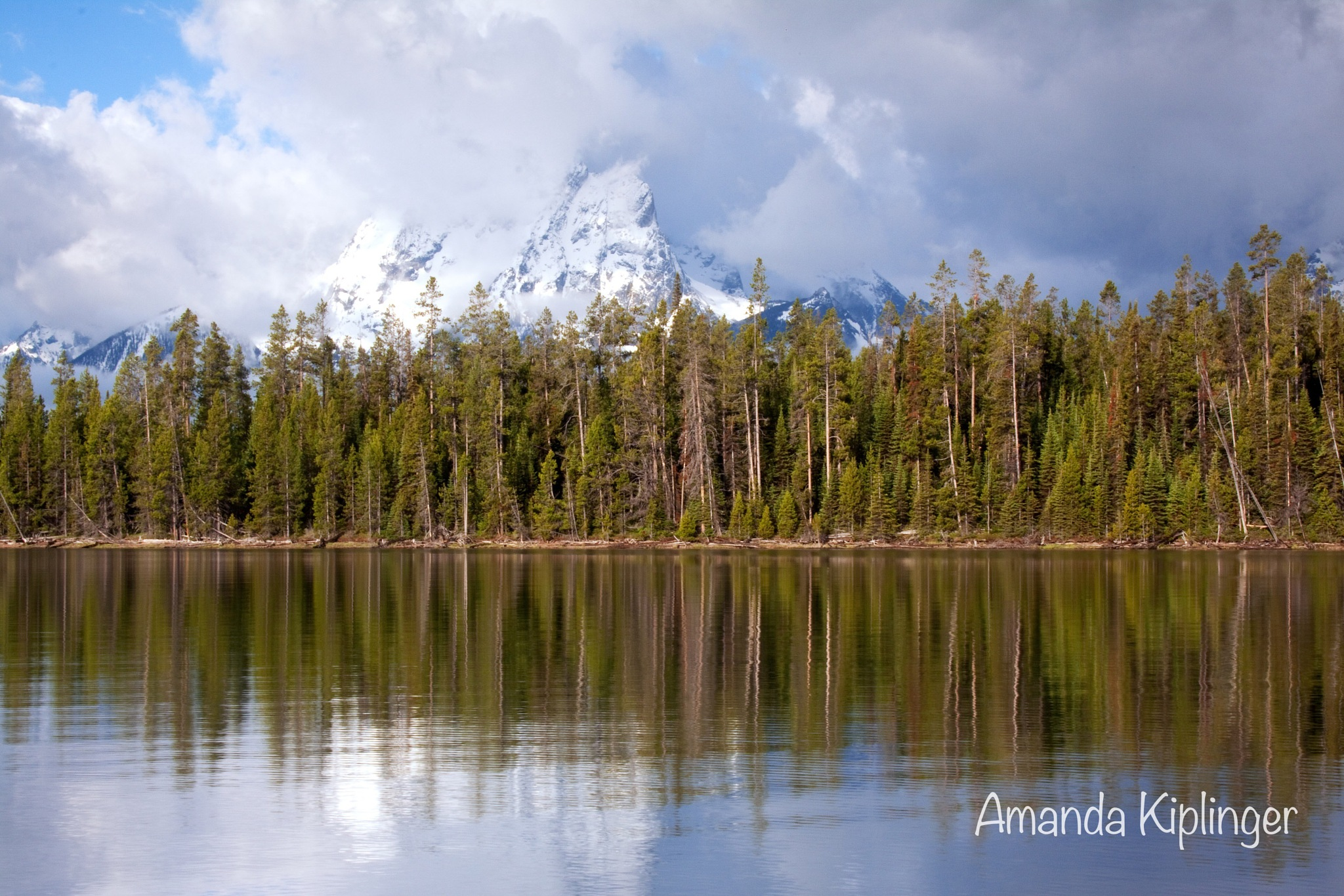 Mountain and Jackson Lake by Amanda Kiplinger