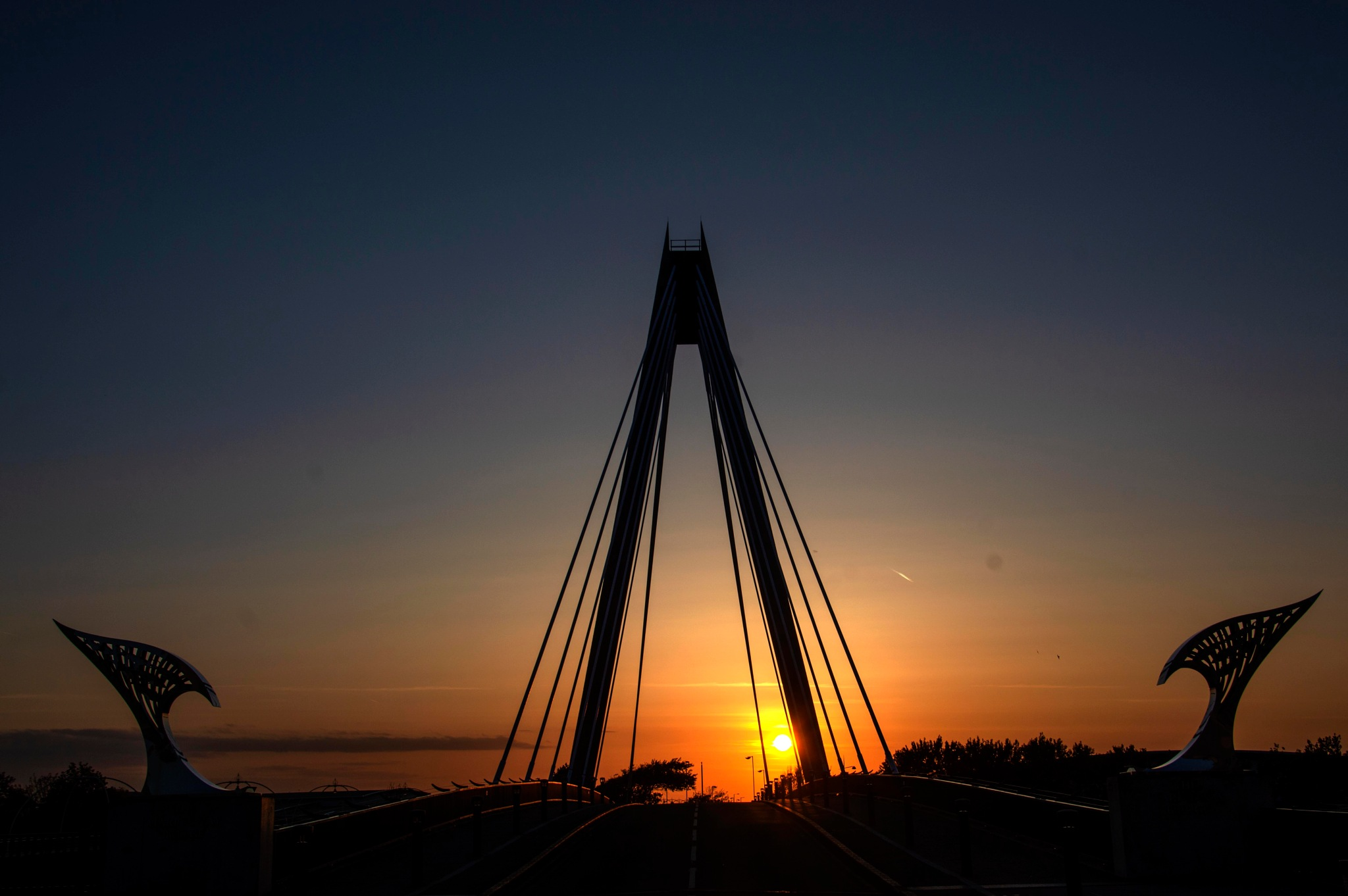 Sunset on the Bridge by Wizard