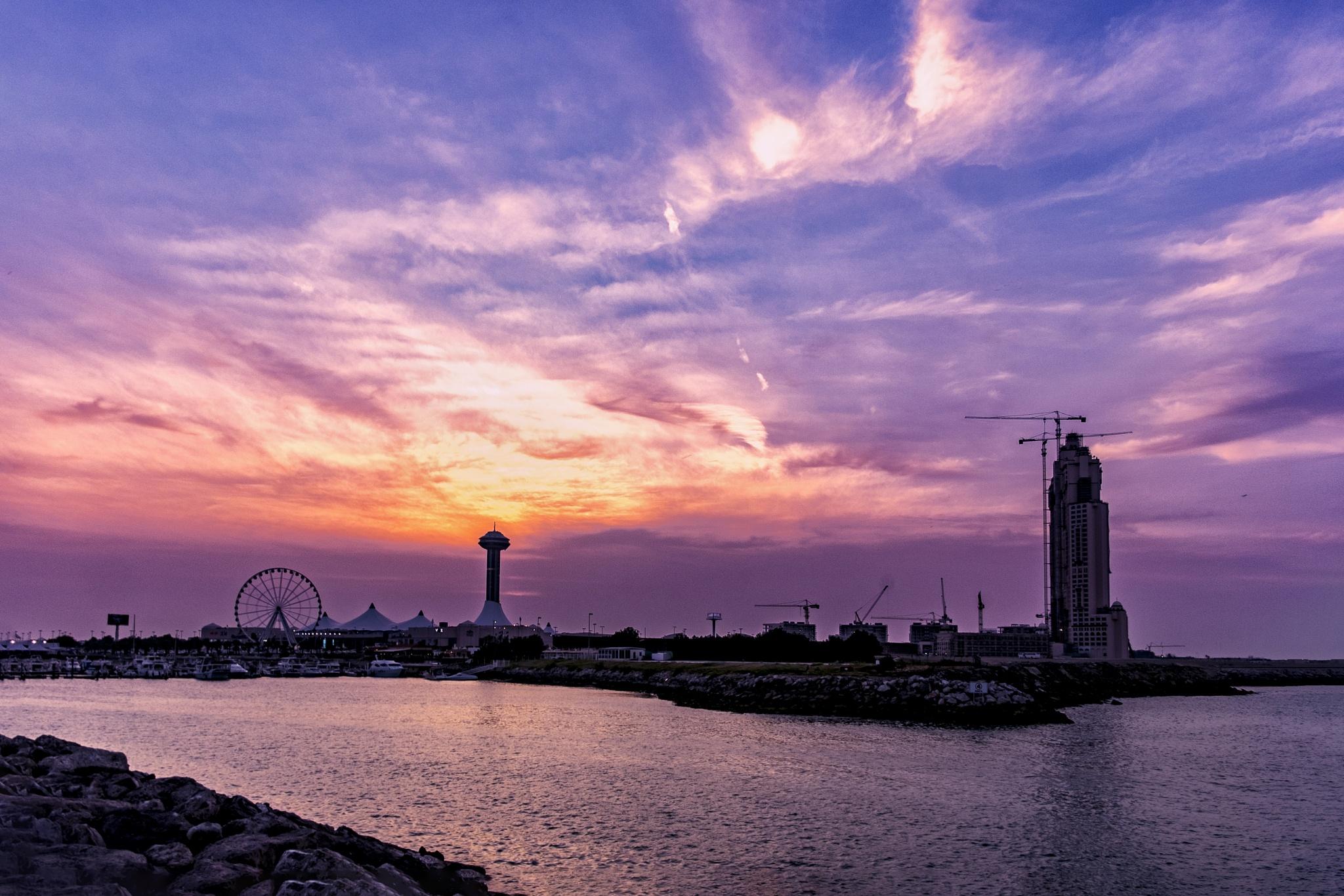 Break Water Sunset by samsonaziz