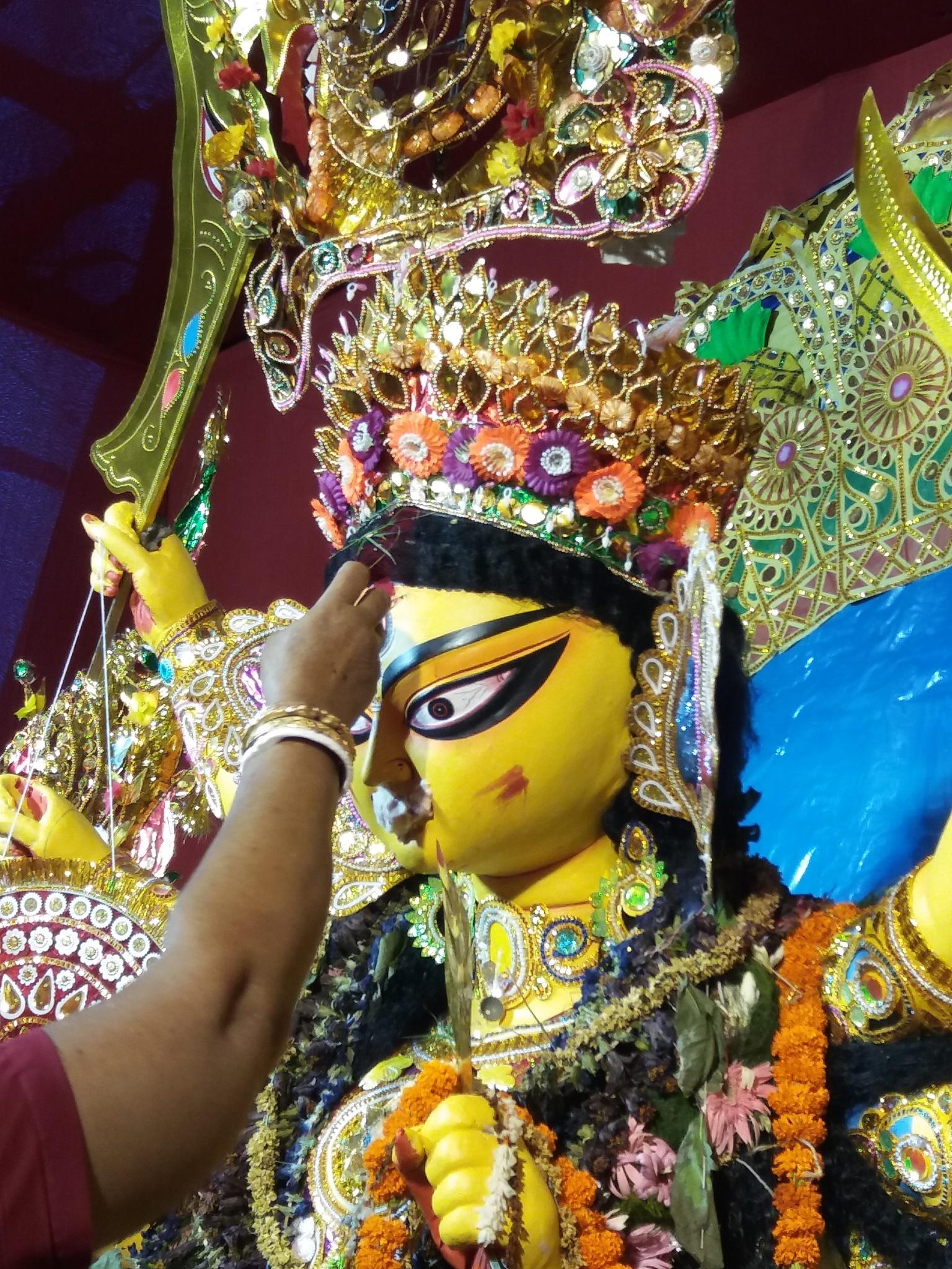 Goddess Durga before her Final Journey by Arjun Dasgupta