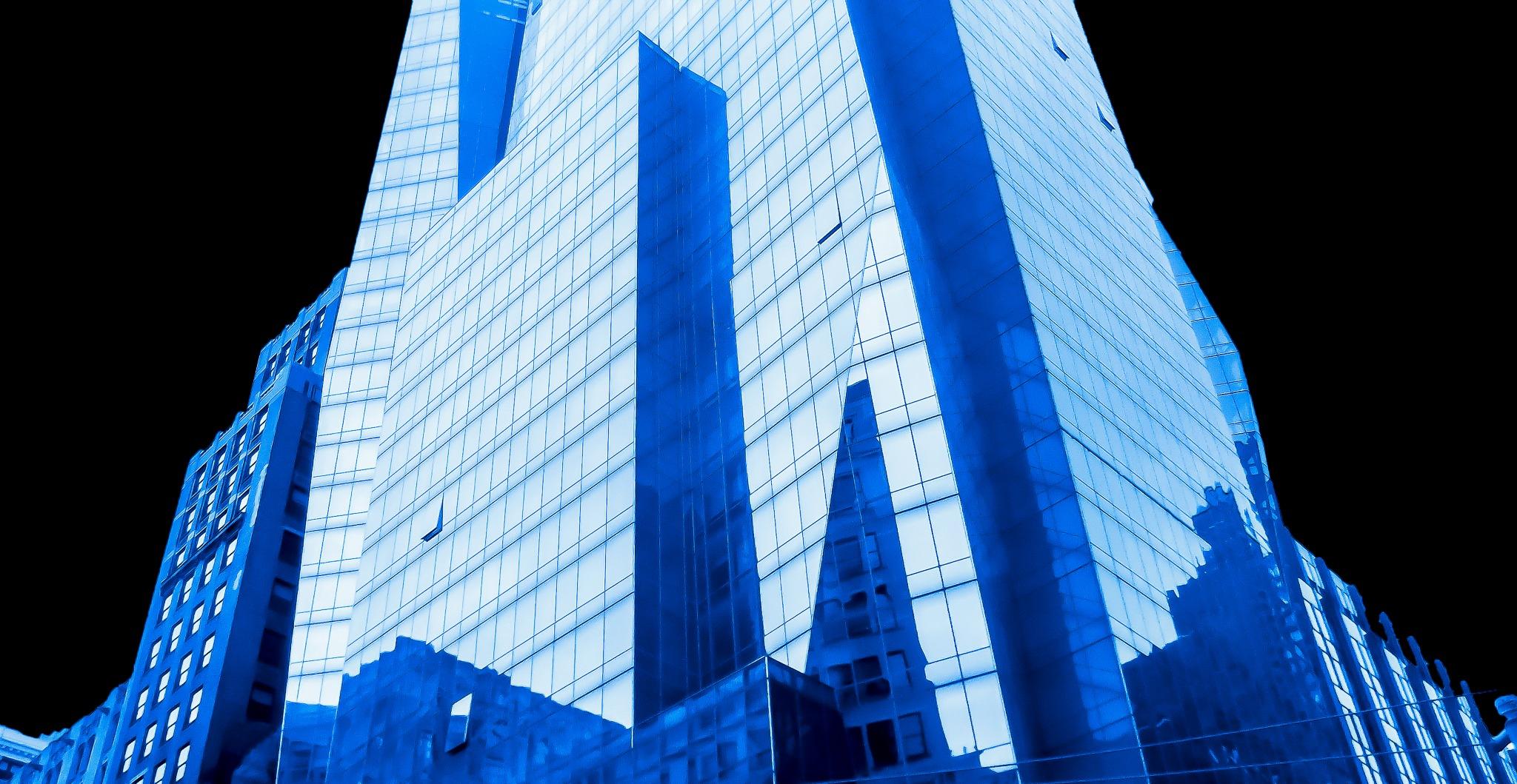 Blue building by Germar