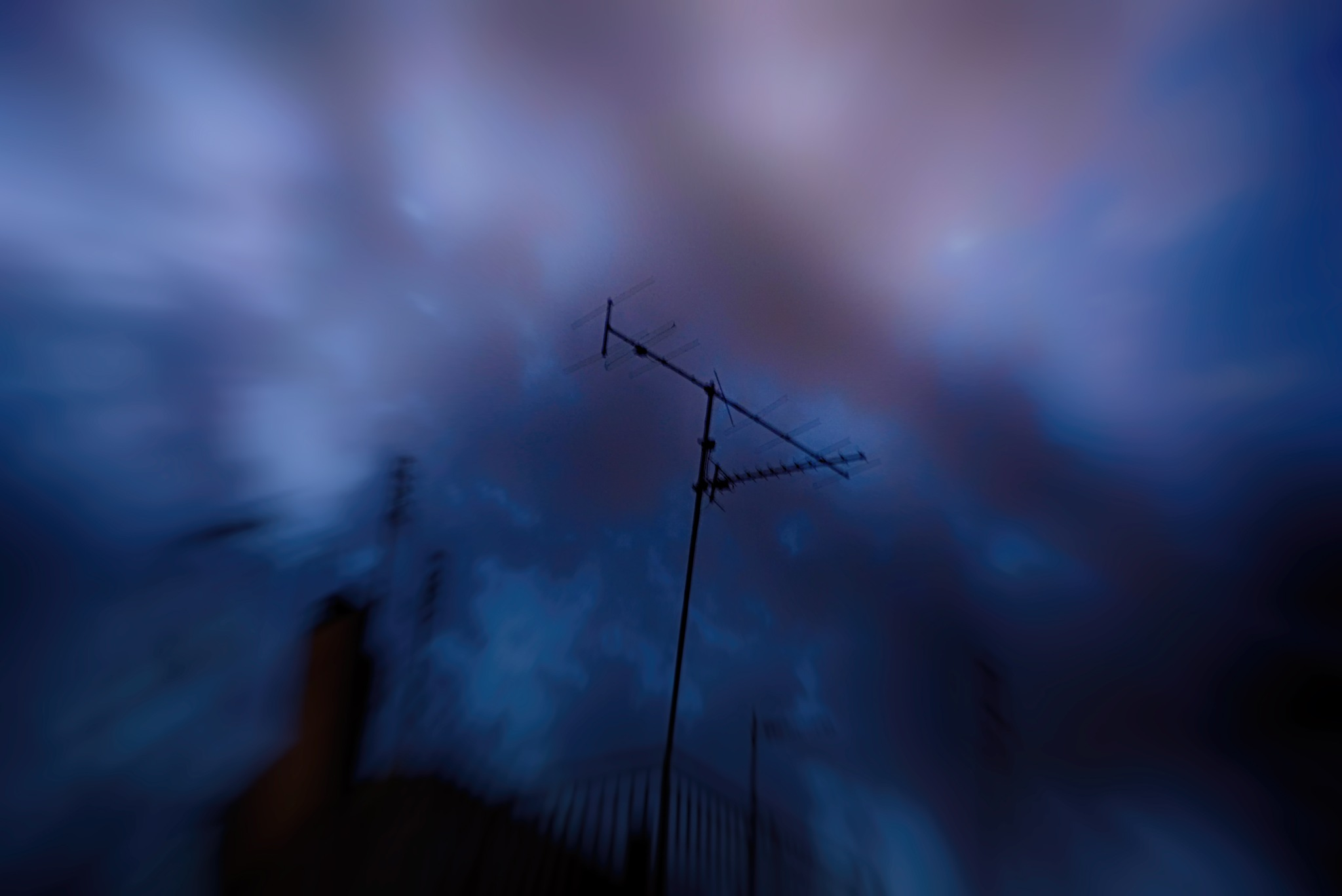 antennas in sunset by fractal