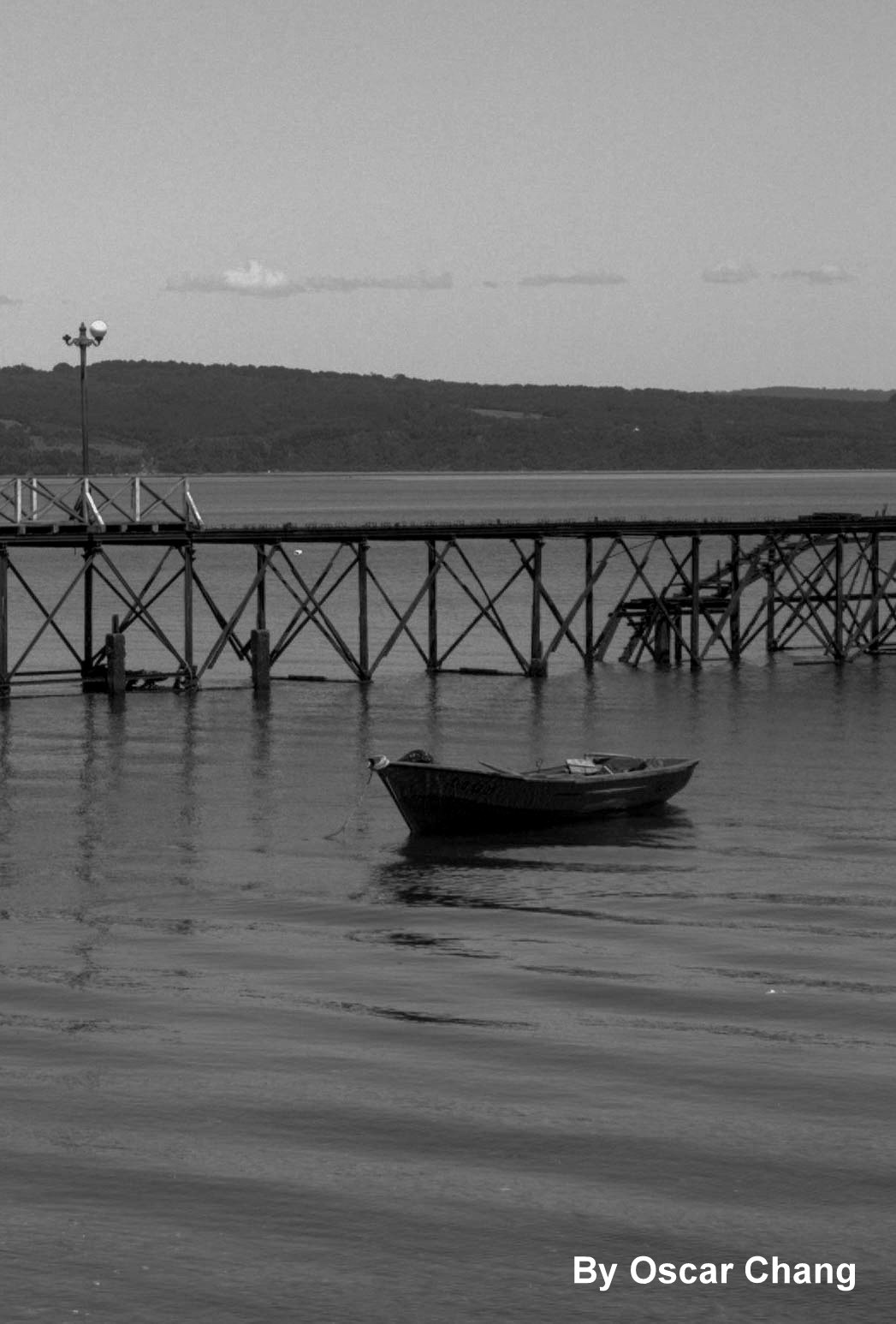 Bote y muelle by Oscar Chang
