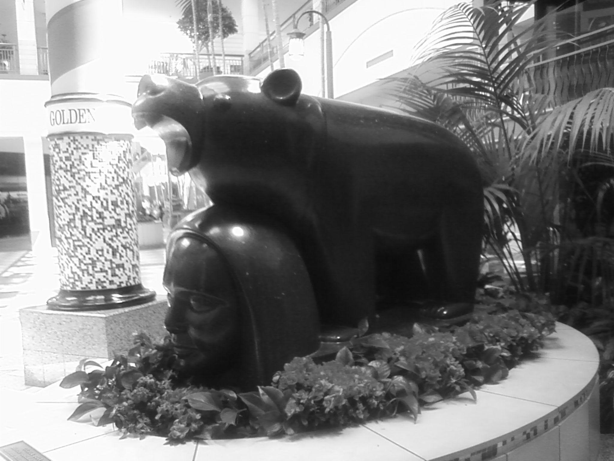 a bear in a shopping center 2 by Francisco Lopez