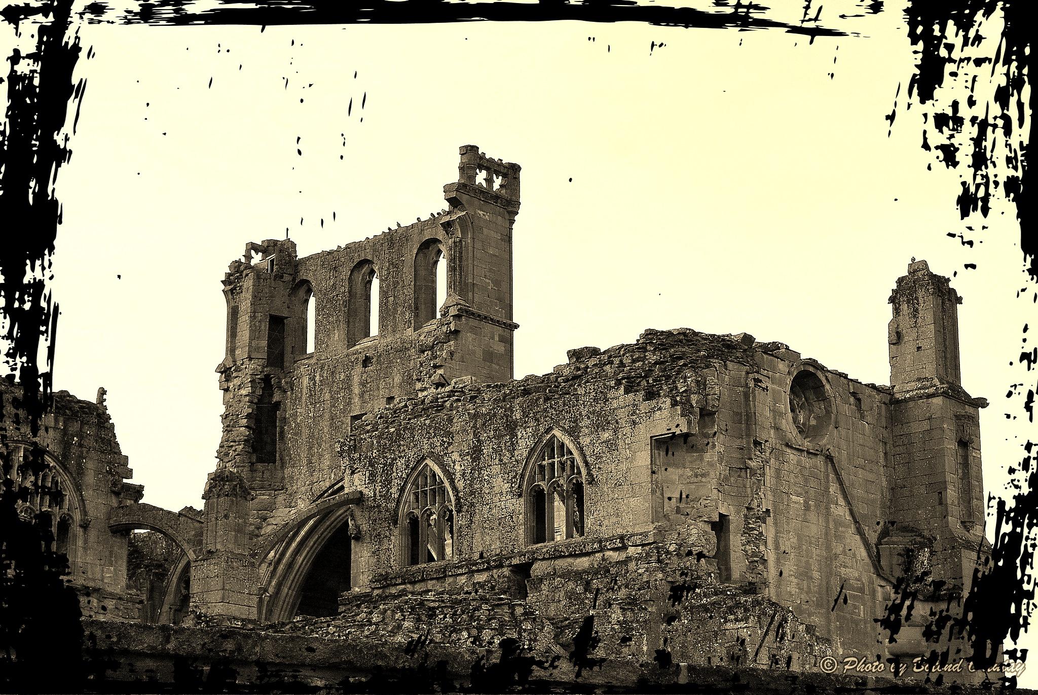 Melrose Abbey 2 by Botond Ortutay