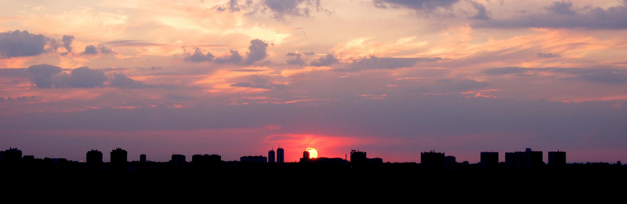 Photo in Travel #sunset #sun #cityscape #landscape #city