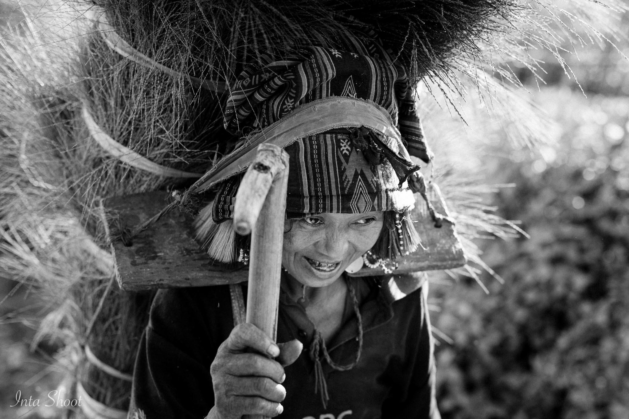 Photo in Black and White #laos