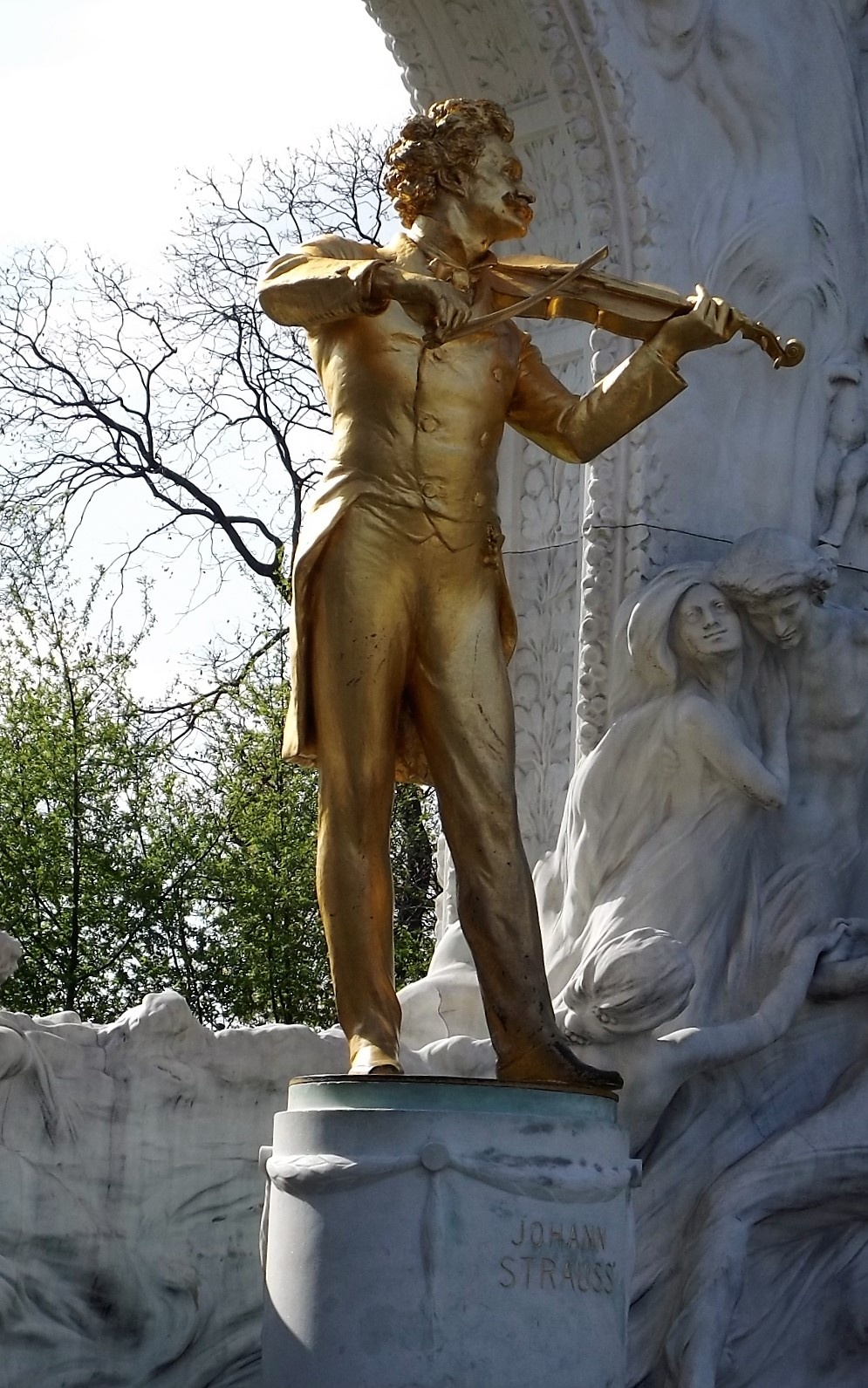 Johan Straus`s statue- Wiena park by Sindbad Traveller