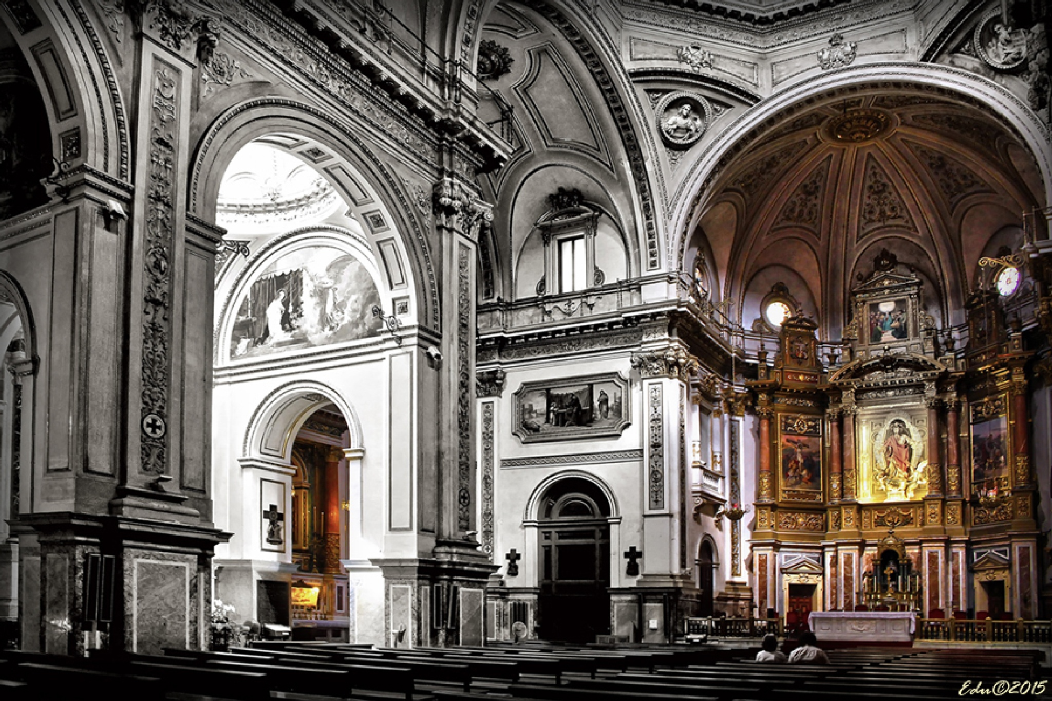 THE CHURCH OPEN AND THE BEADLE IN THE DOOR by vallesedu