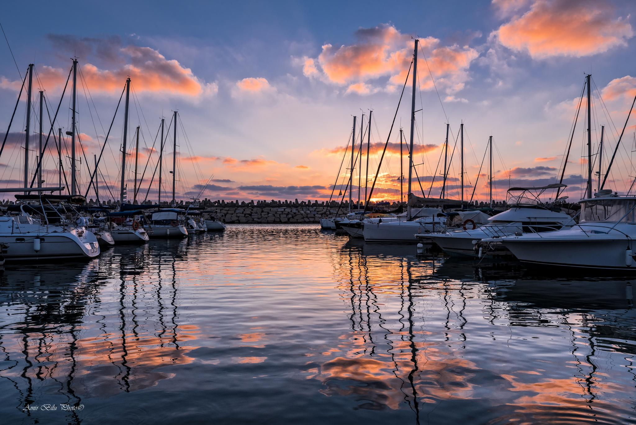 Sunset  by Amir Bilu