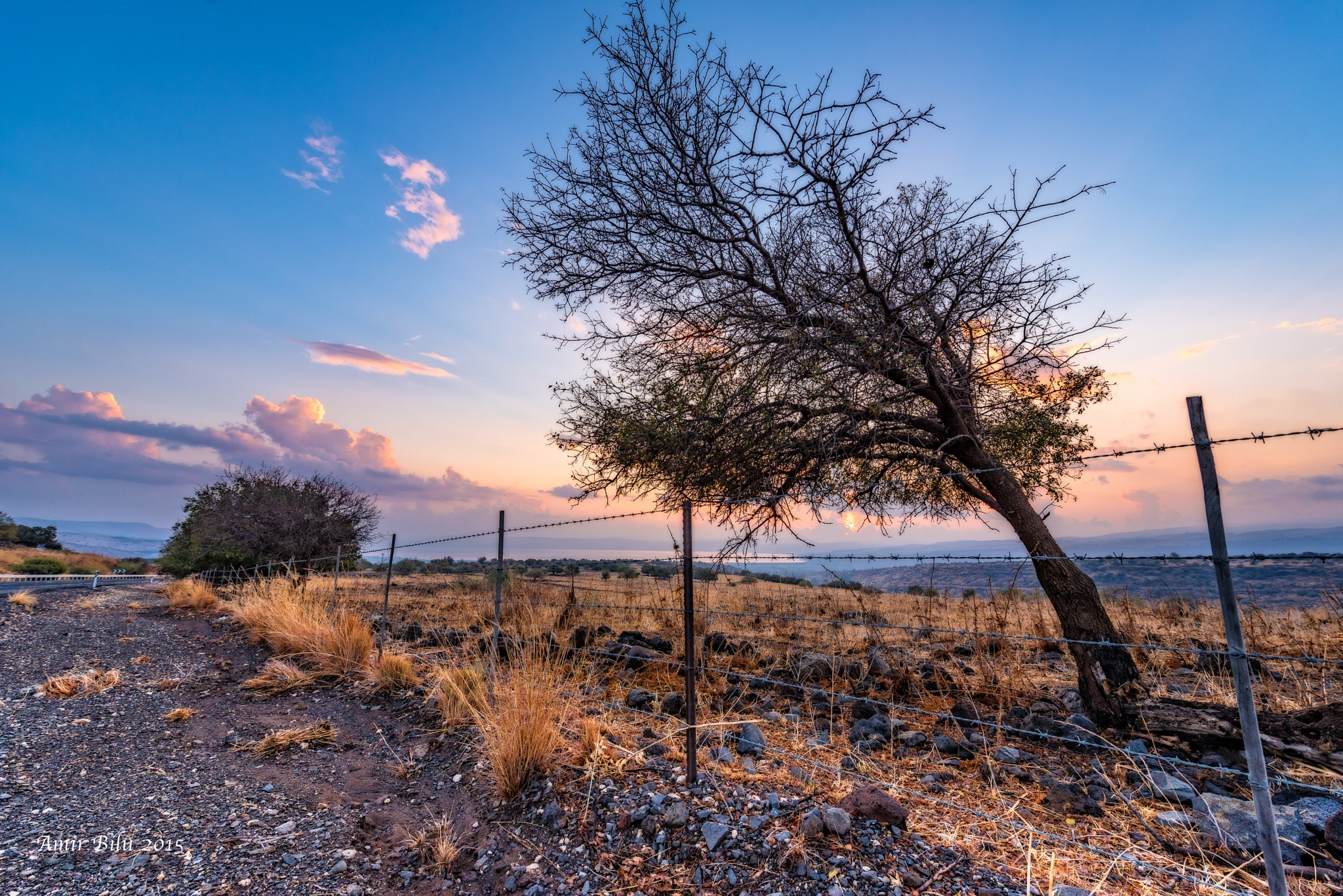 Golan Heights At sunset by Amir Bilu