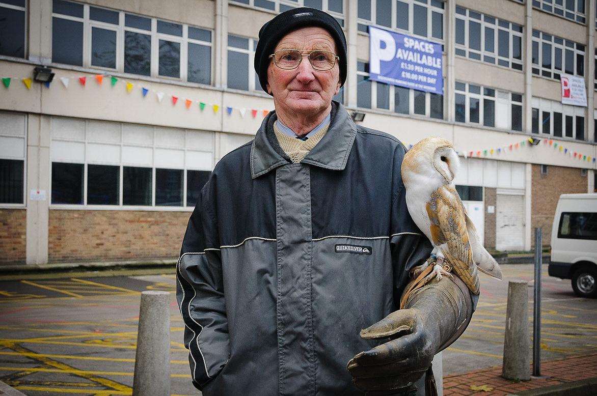 Man with An Owl by GaryAustin