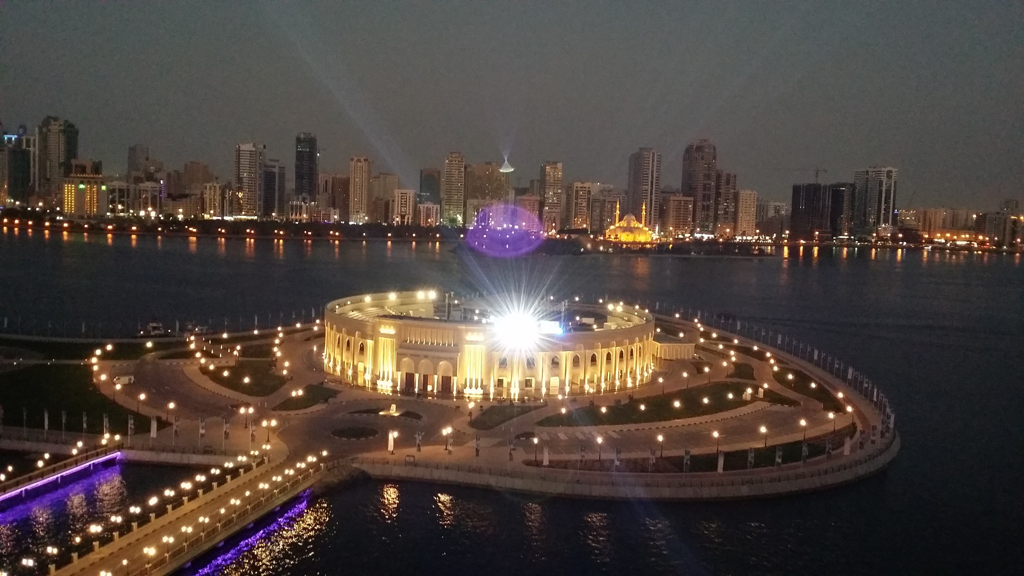 In the evening  the Almajaz Theater #Sharjah  by Maysoon Ghnaim