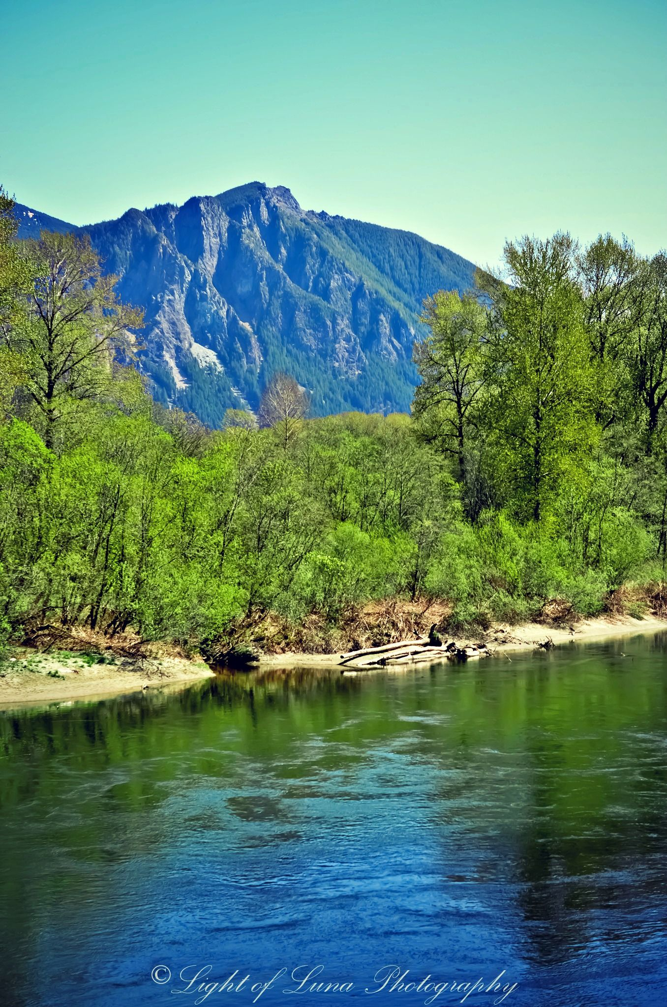 Snoqualmie River  by Melissa Calvert