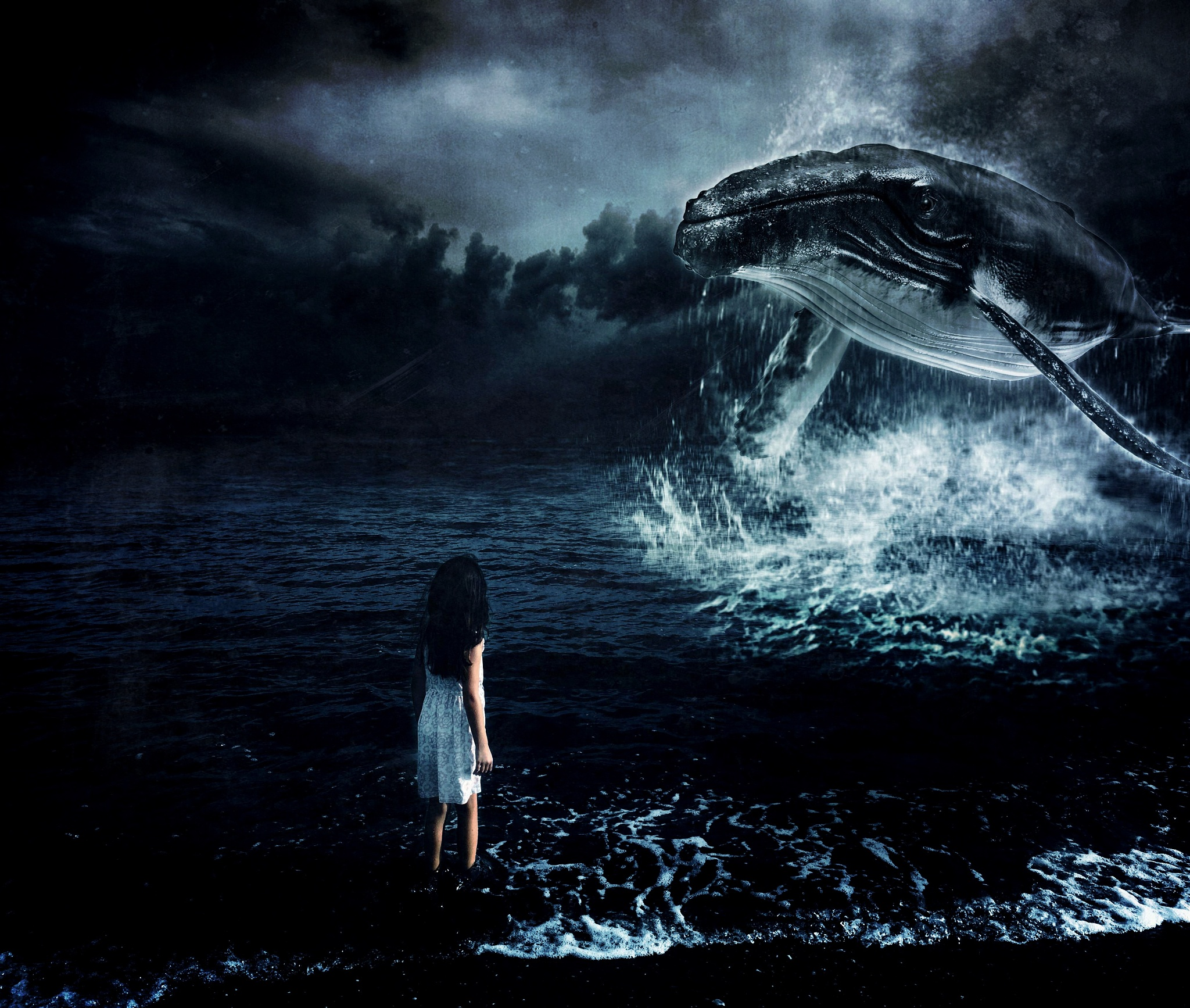 The Girl Who Sings With Whales by Pip  Jaramillo