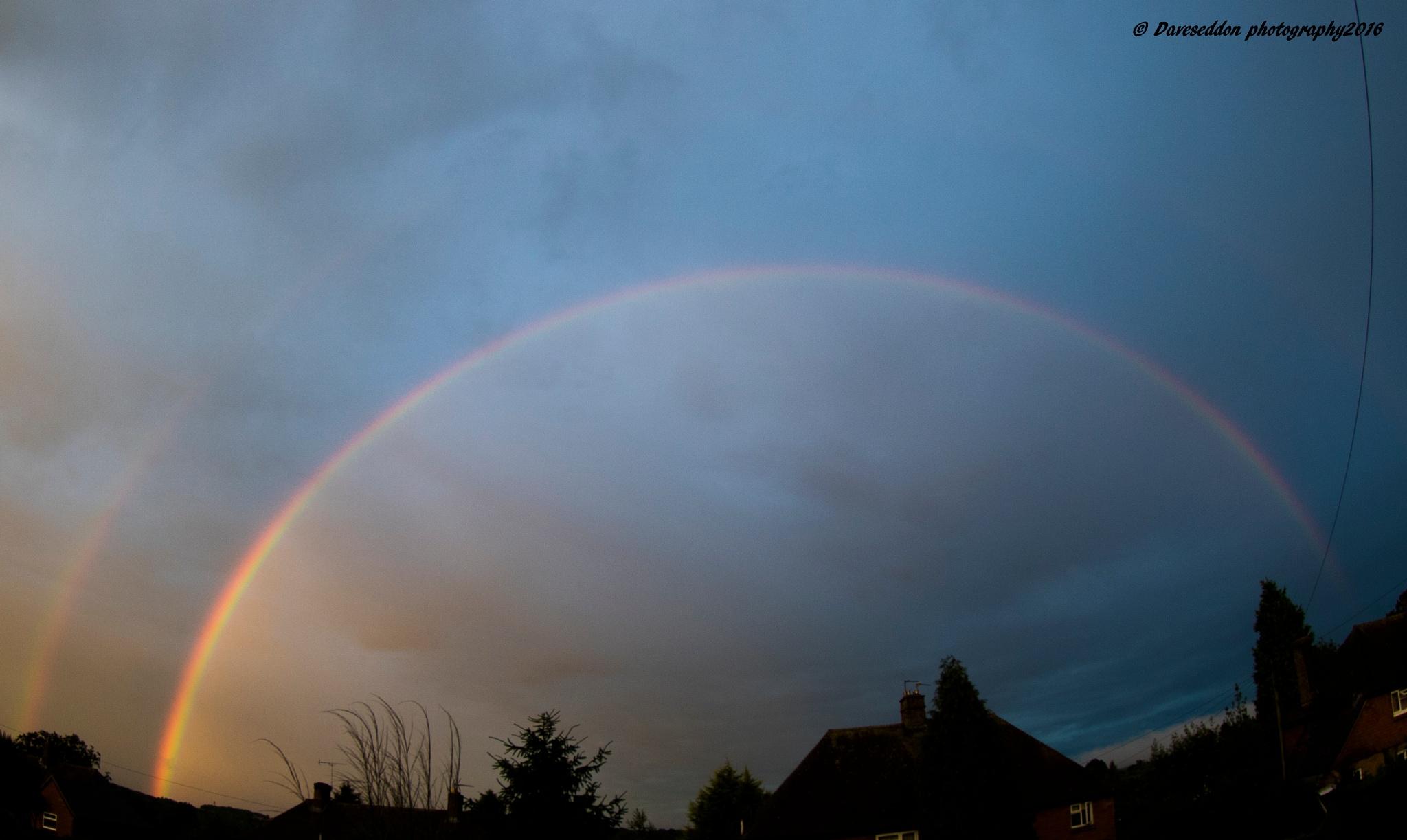 Sunset and rainbow by DaveSeddon
