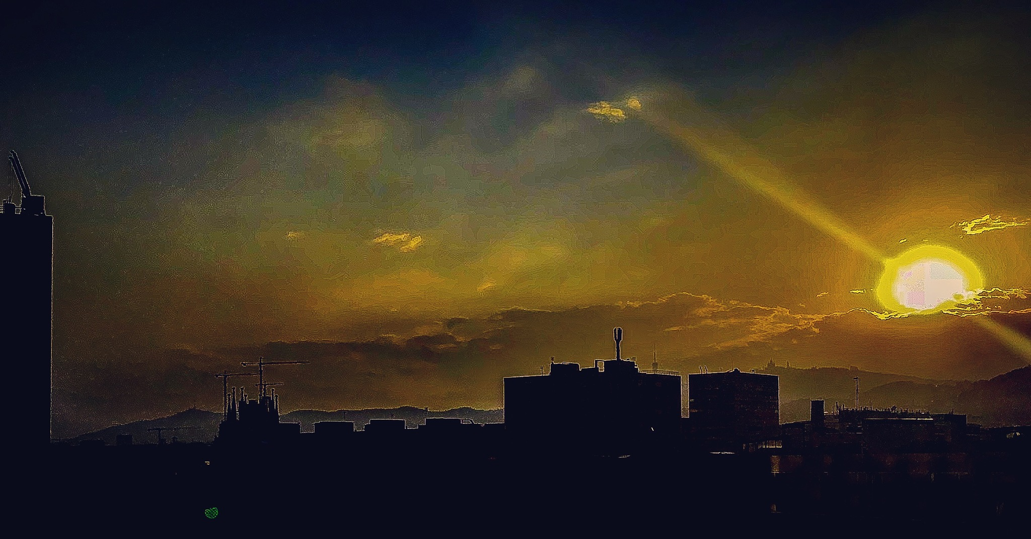 Sunset in Barcelona now  by Hector Lopez