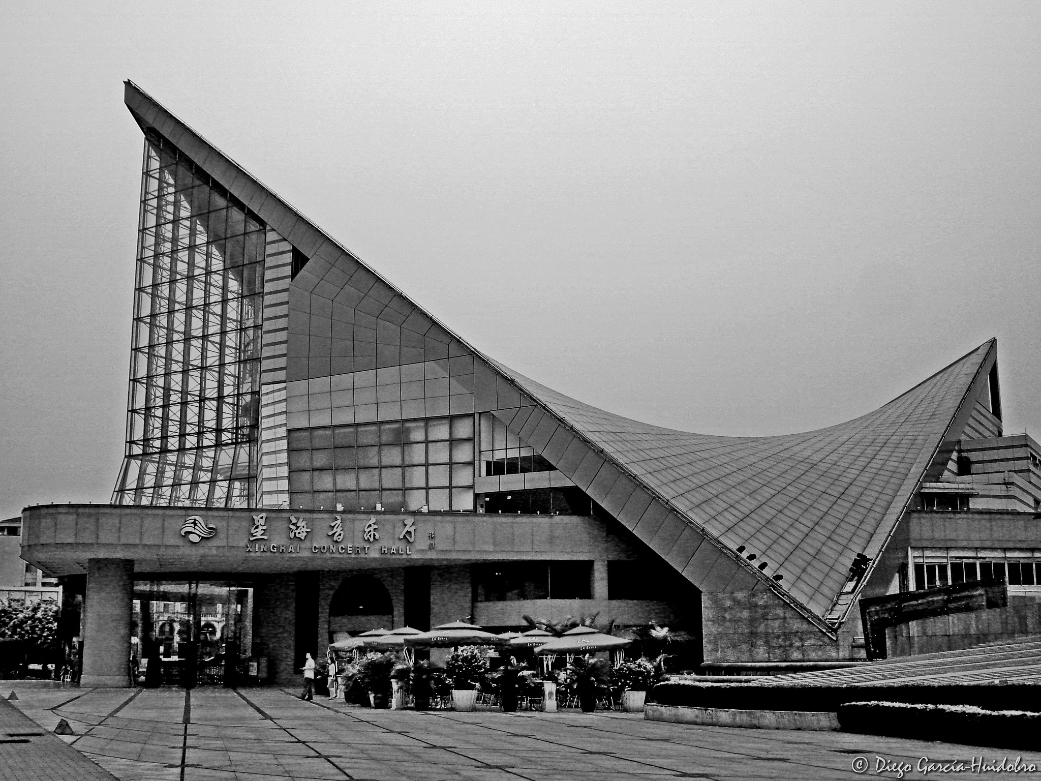 Photo in Black and White #building #china #black&white