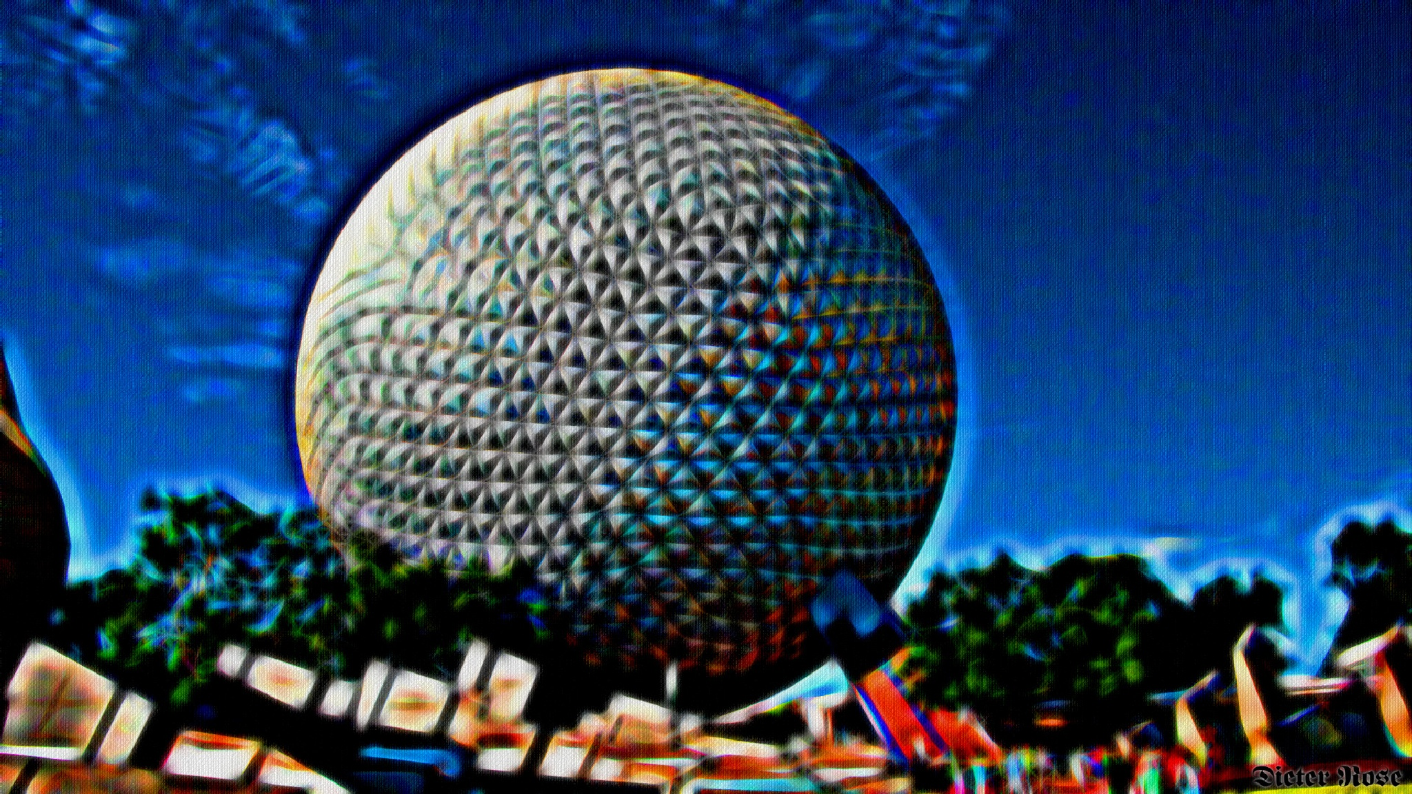 Epcot Center (florida) by Dieter Rose