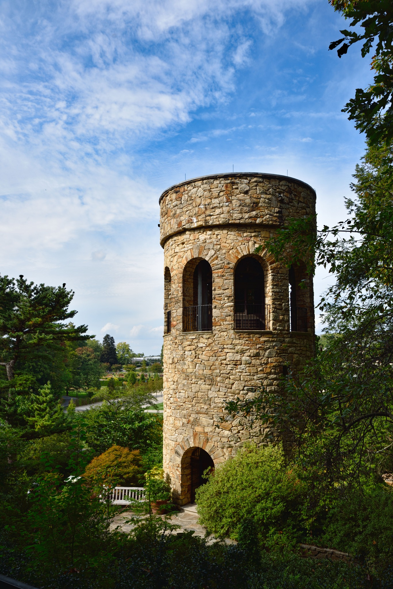 chimes tower at Longwood gardens by Dan McGovern