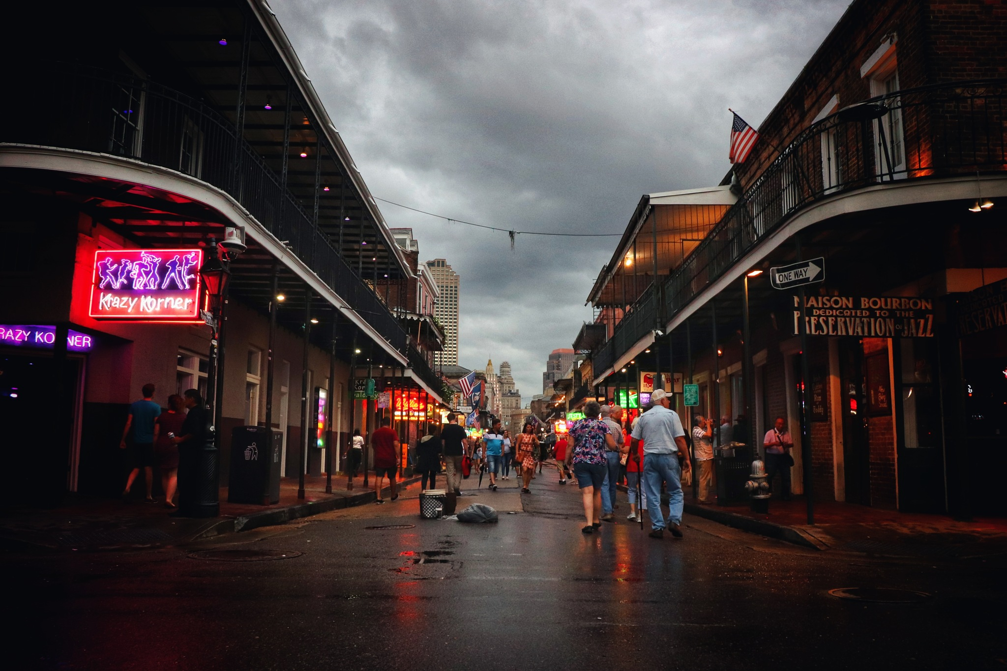 Clouds Over Bourbon Street by Richard Lamb