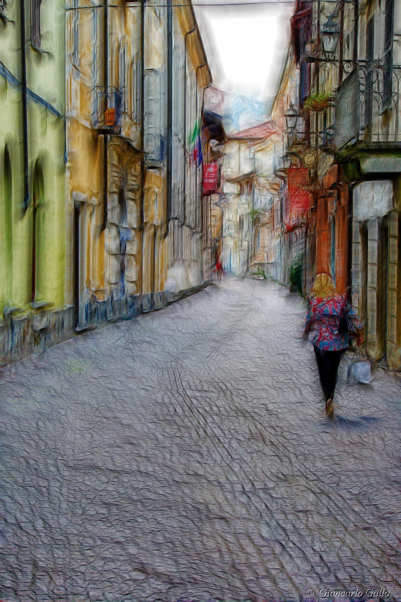 Woman with handbag by Giancarlo Gallo