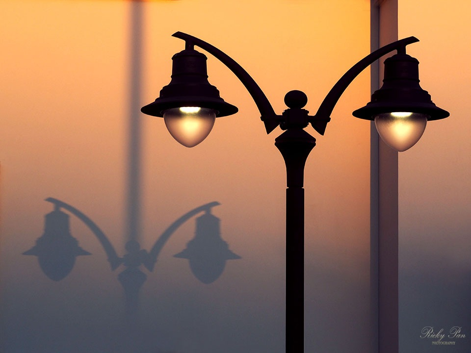 Street * Lamp * Sunset by RickyPan