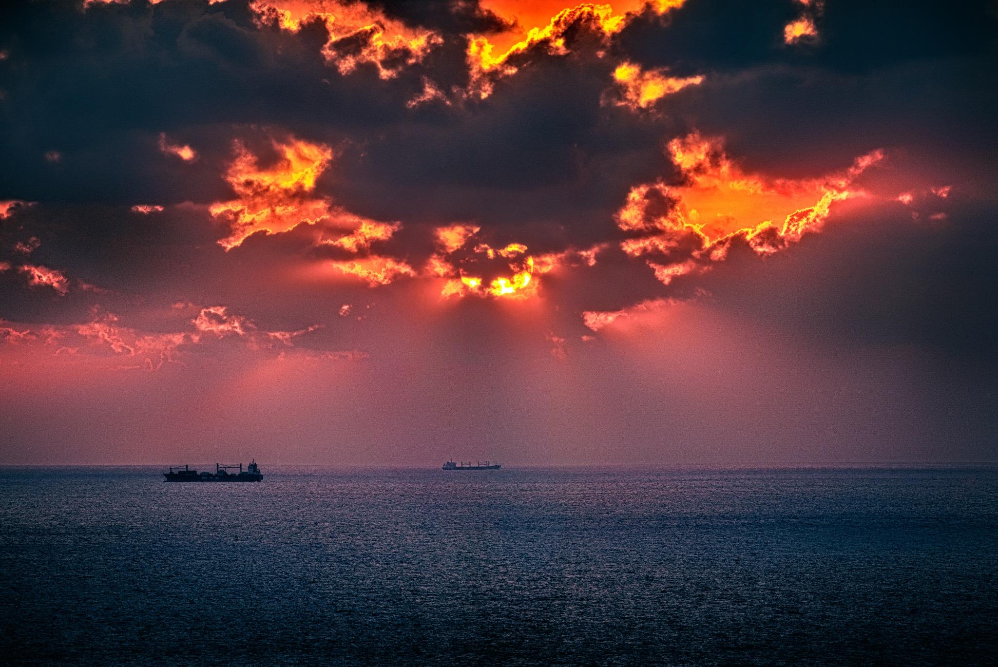 Sunset in Alex by Hisham Badran