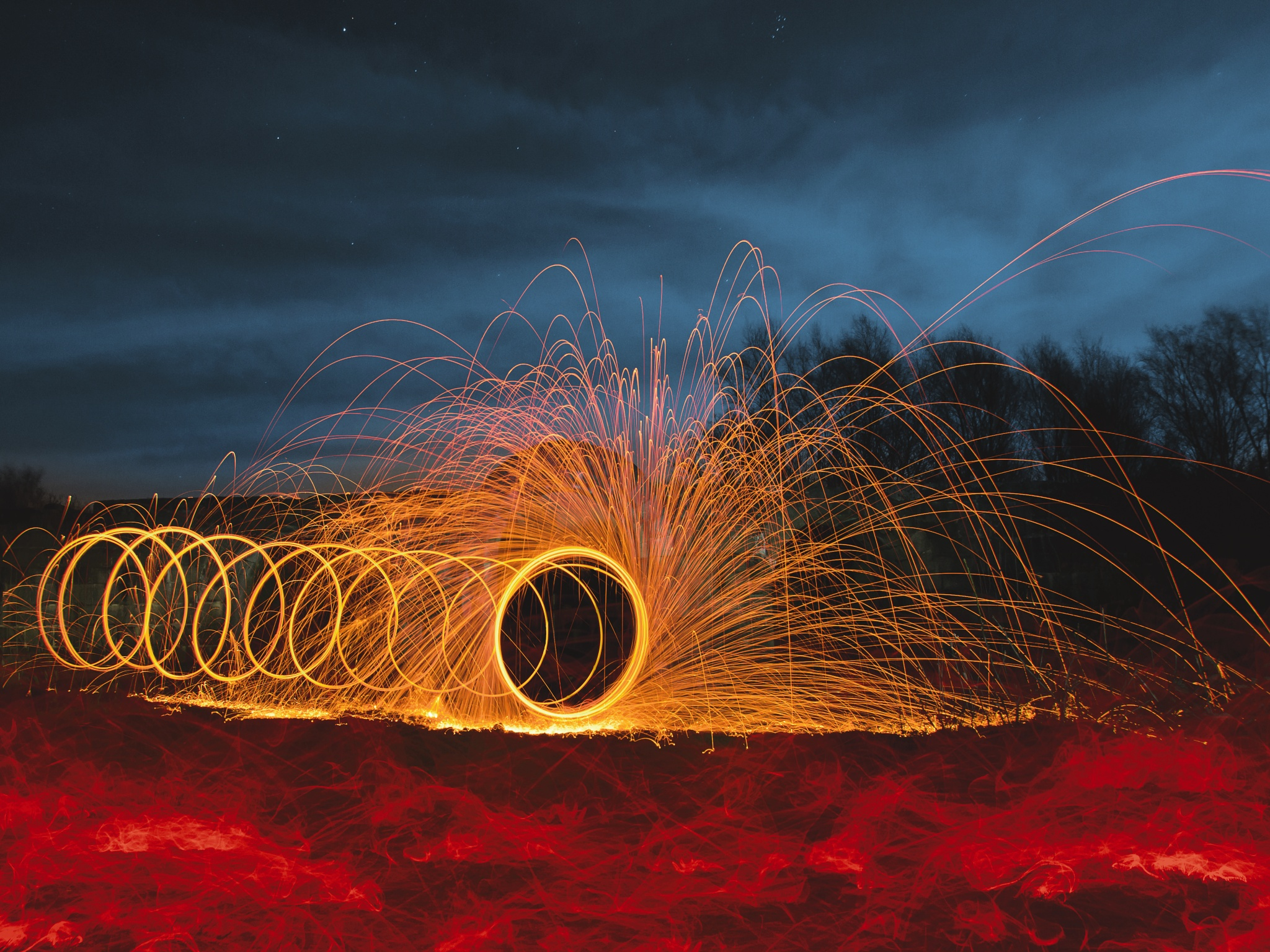 Photo in Random #wire wool #long exposure #spinning #light painting