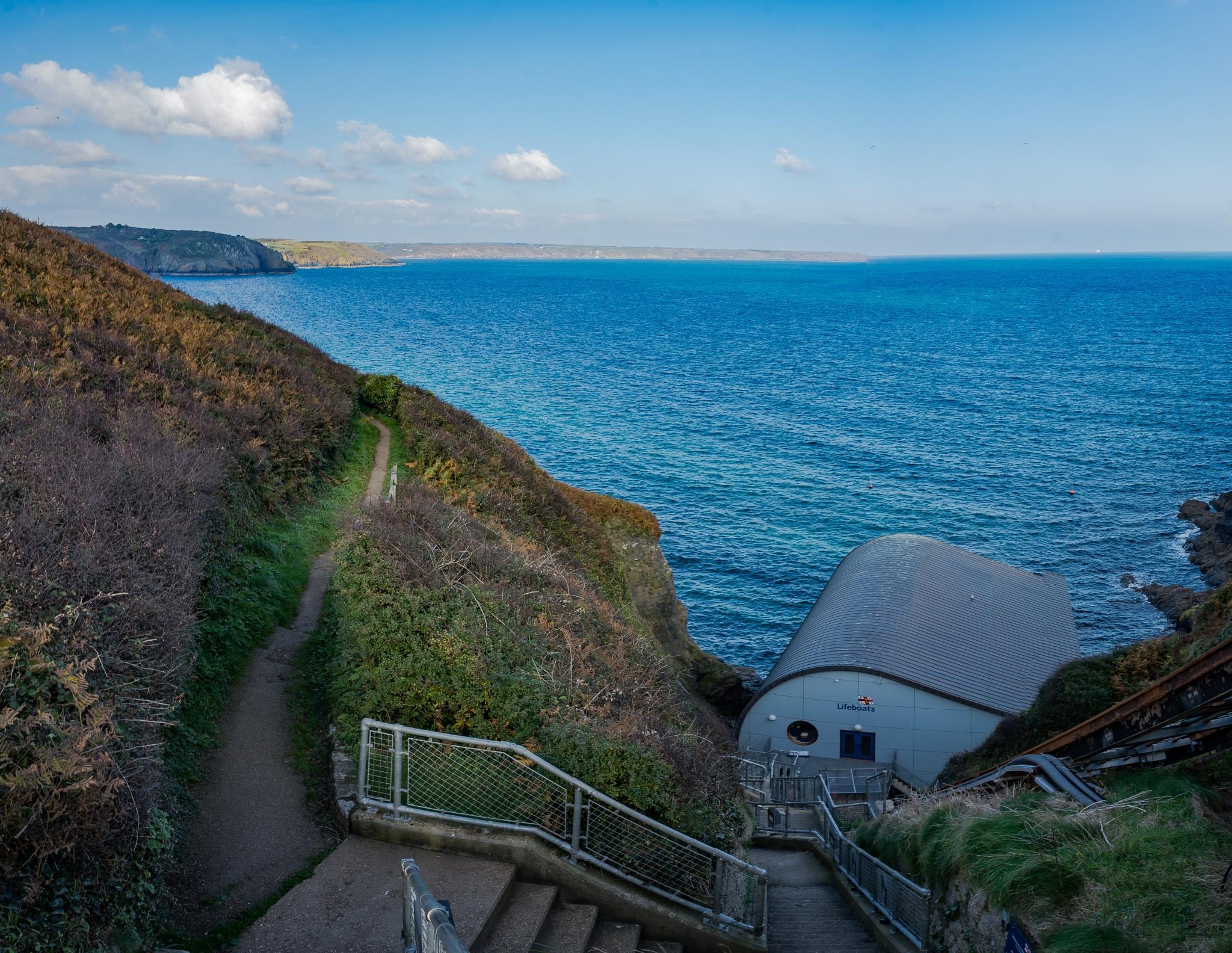 Photo in Landscape #lizard #lifeboat station #coast #seascape